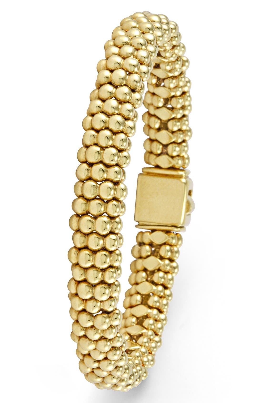'Caviar Gold' Rope Bracelet,                             Alternate thumbnail 3, color,                             Gold