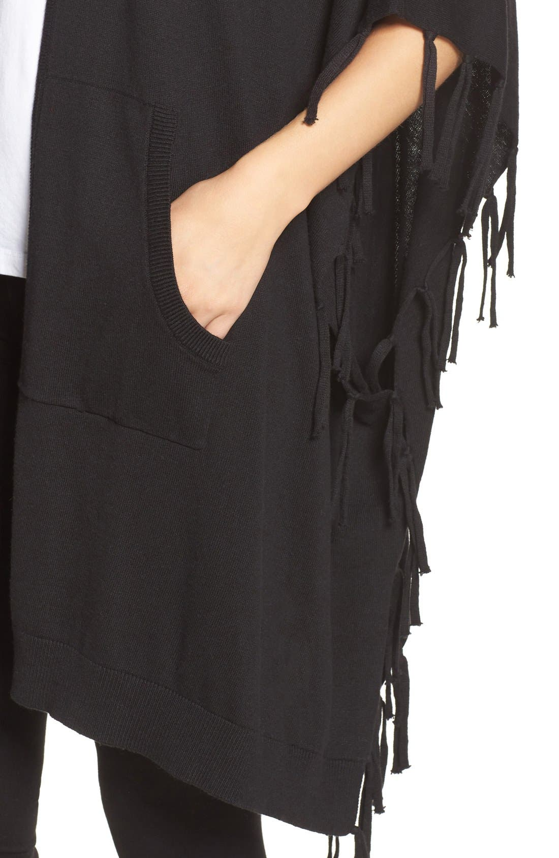 Alternate Image 4  - DKNY Fringe Sweater Wrap