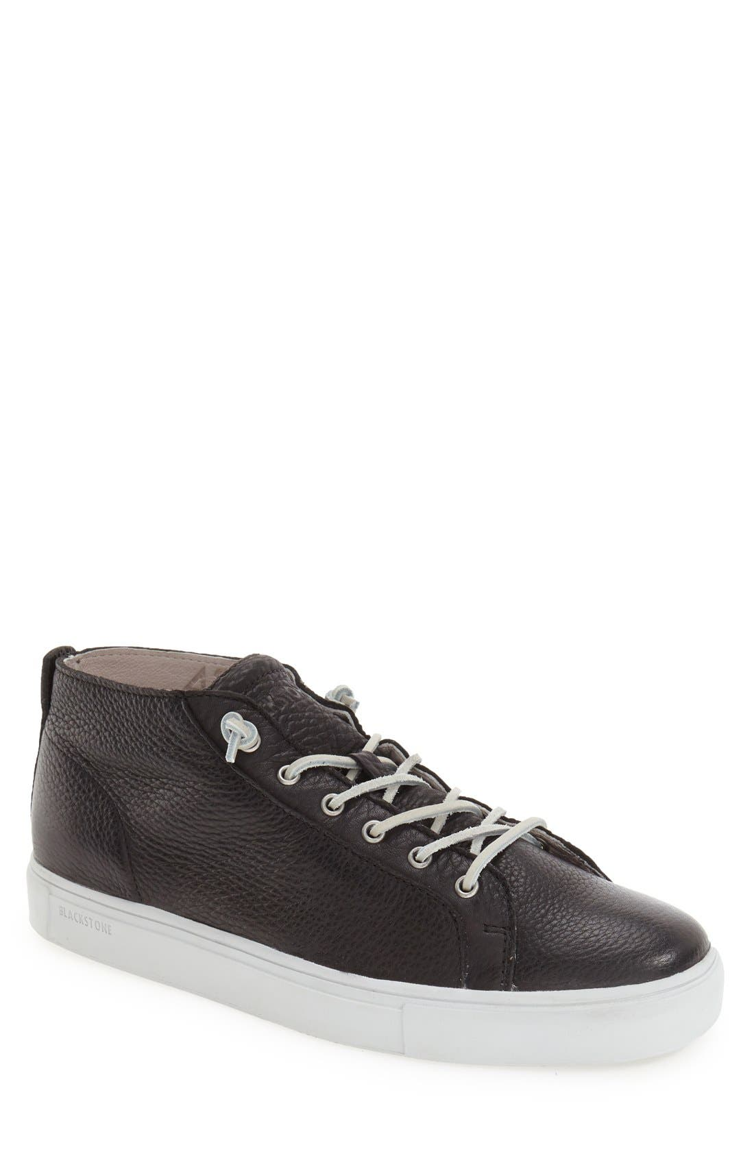 Blackstone 'LM11' Sneaker (Men). BLACK; NORDIC BLUE LEATHER