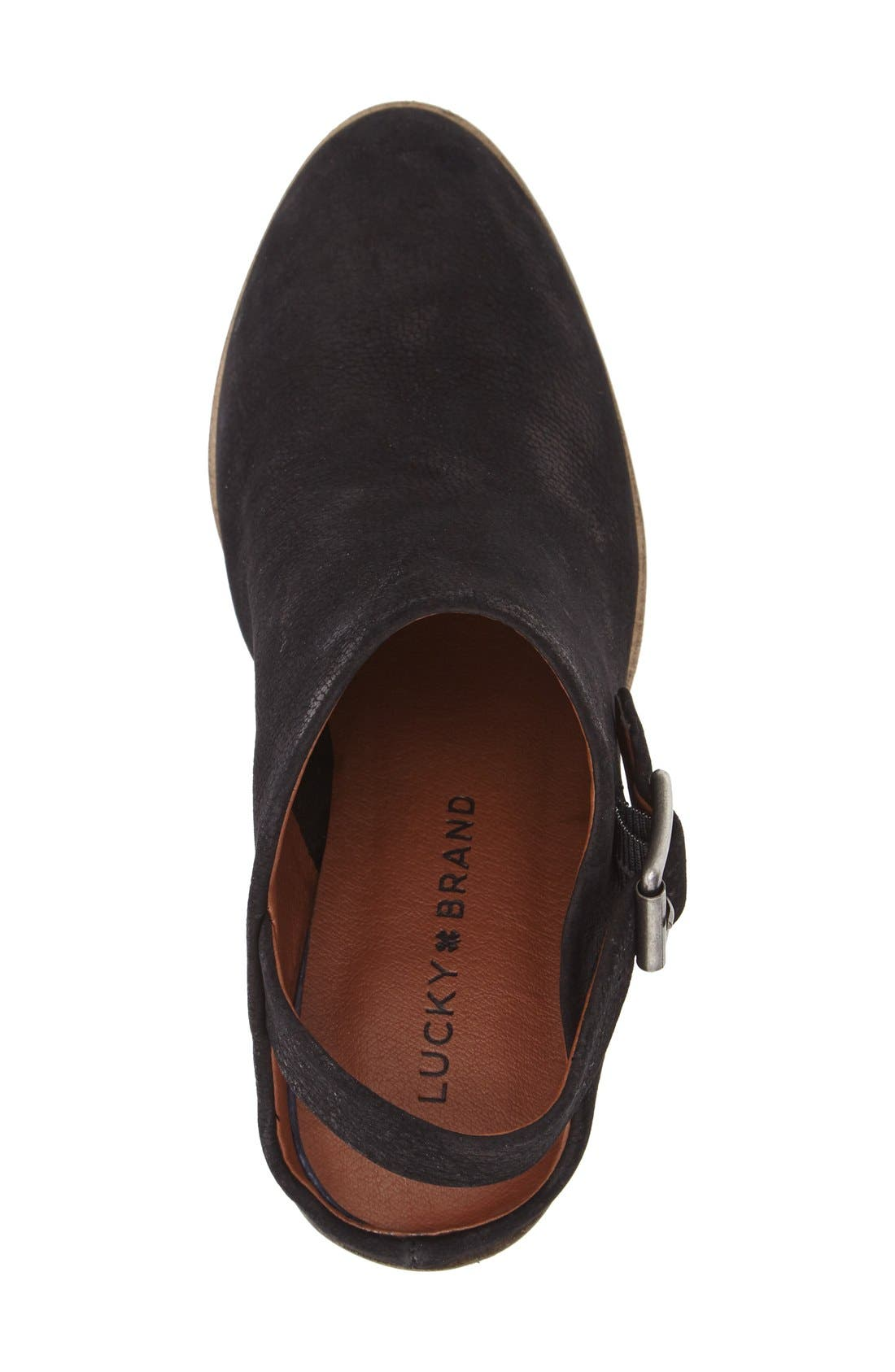 'Machiko' Slingback Clog,                             Alternate thumbnail 3, color,                             Black Leather