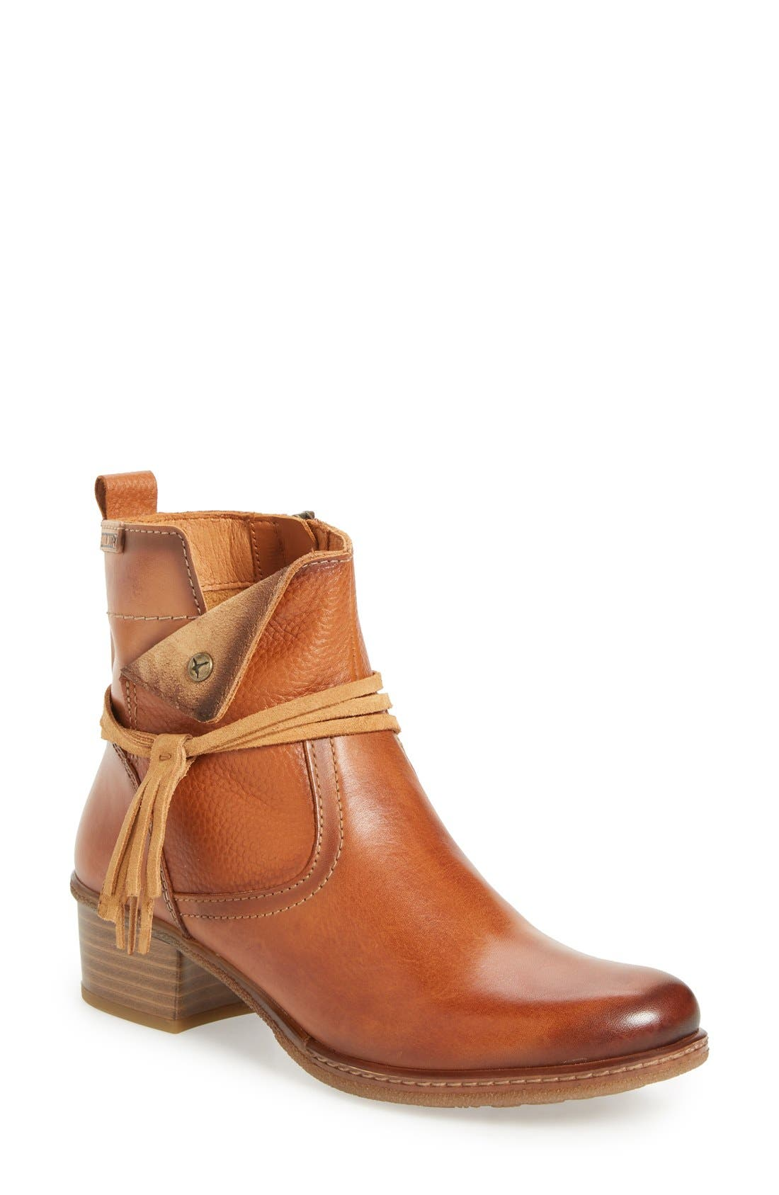 'Zaragoza' Bootie,                         Main,                         color, Brandy Leather