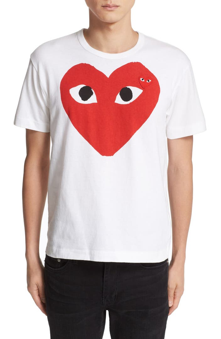 Comme Des Gar Ons Play Heart Face Graphic T Shirt Nordstrom