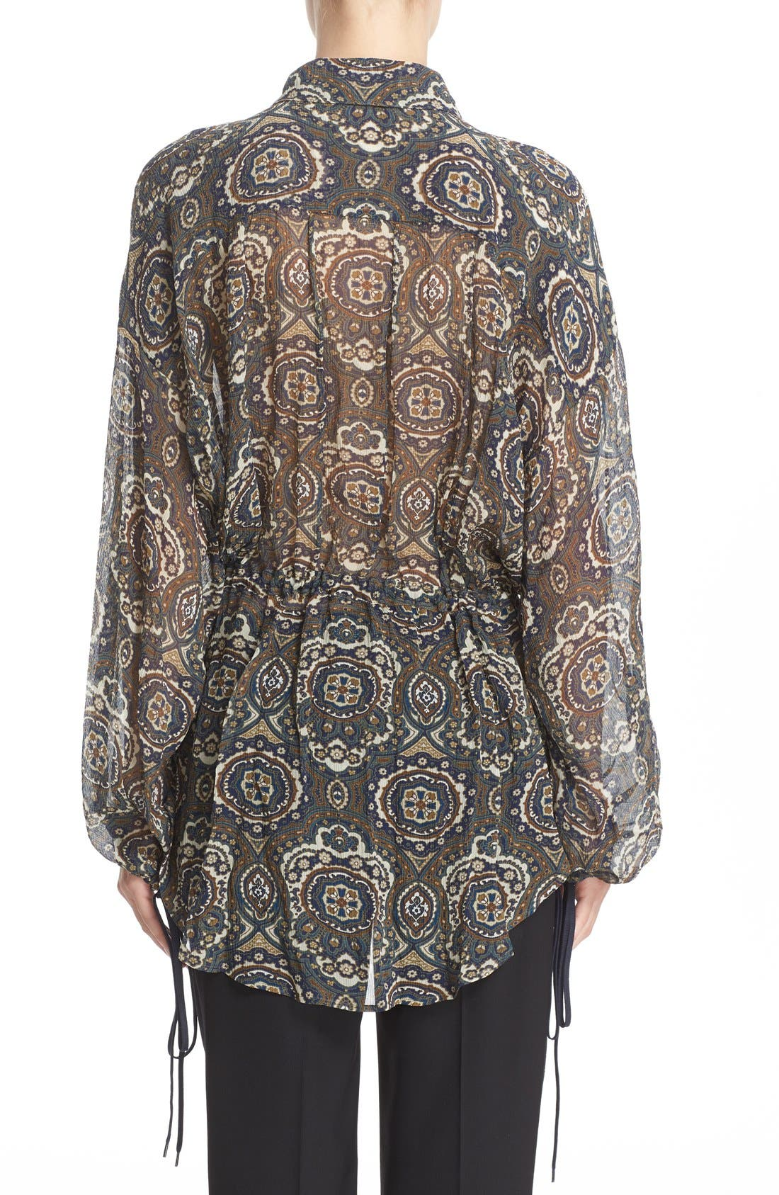 Alternate Image 2  - Chloé Medallion Print Silk Crepon Blouse