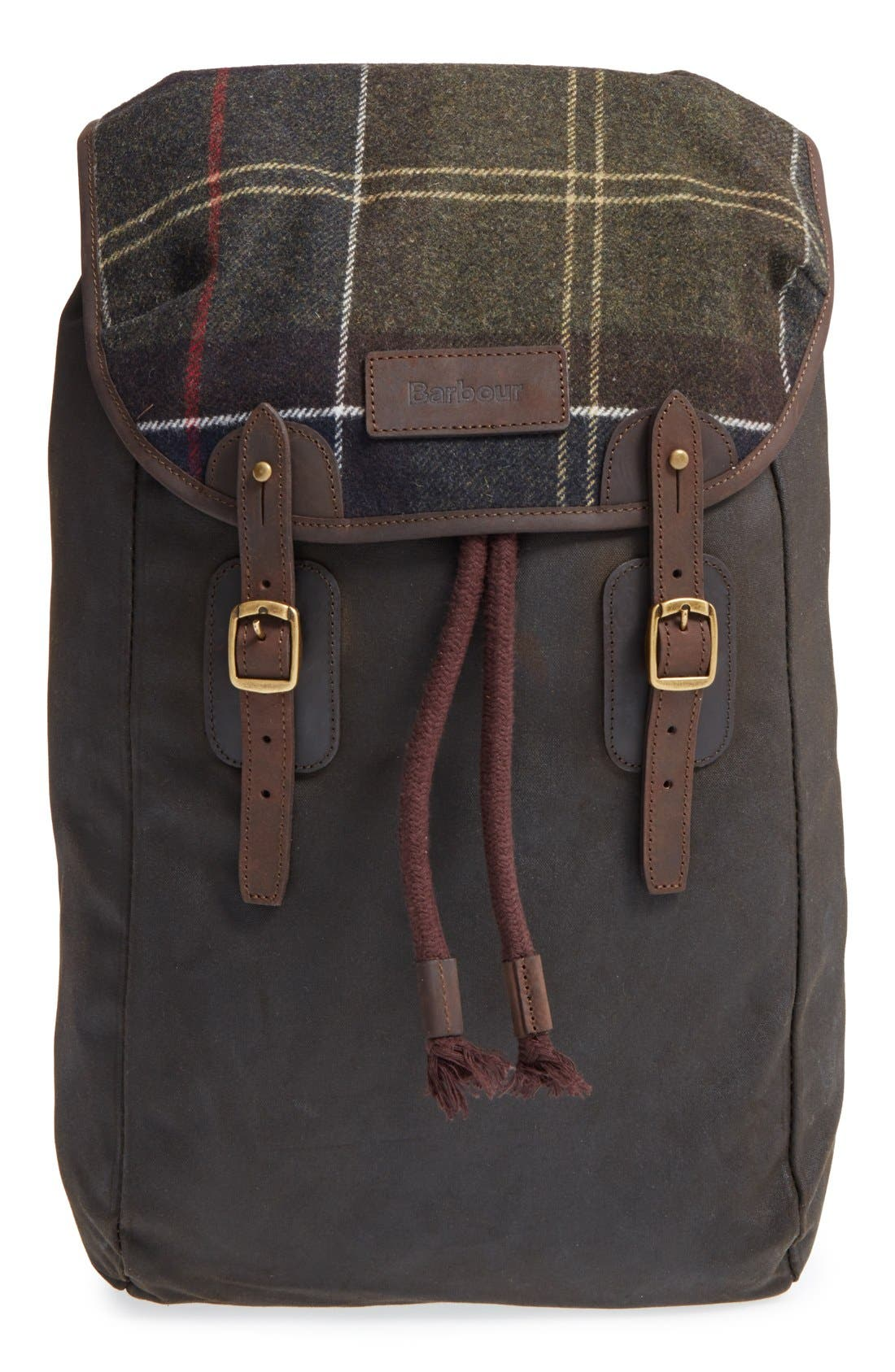 Waxed Canvas Backpack,                         Main,                         color, Classic