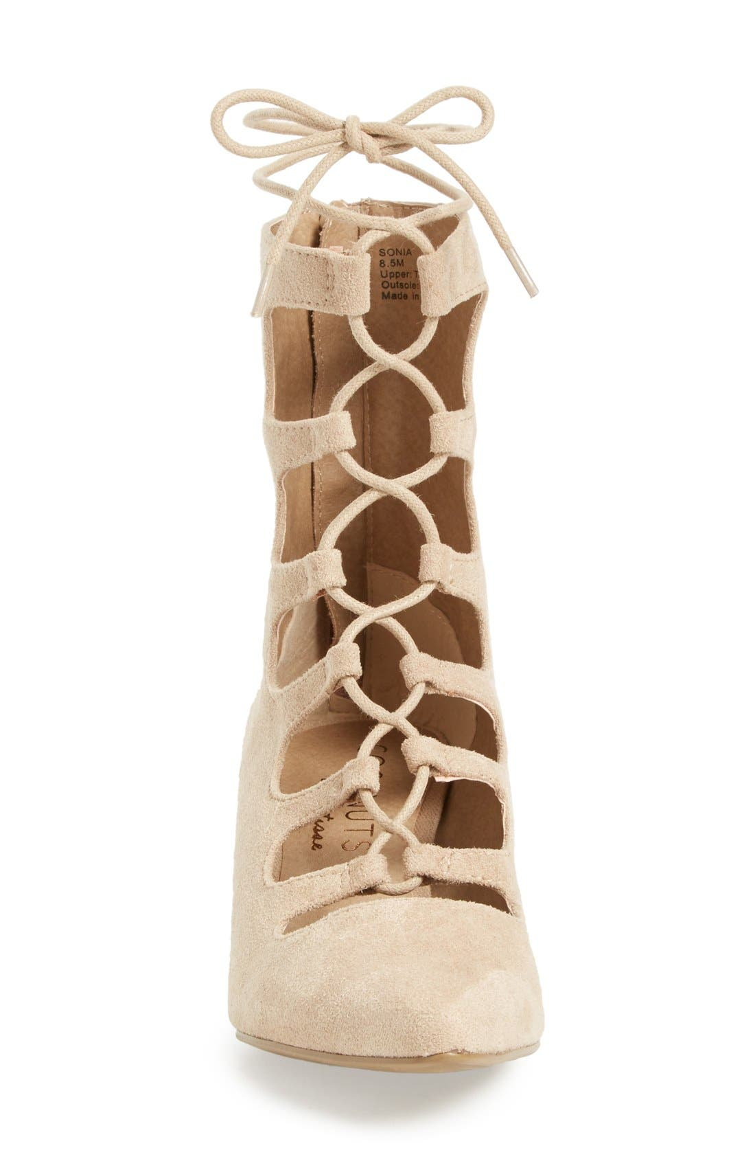 Matisse 'Sonia' Lace-Up Pump,                             Alternate thumbnail 3, color,                             Natural