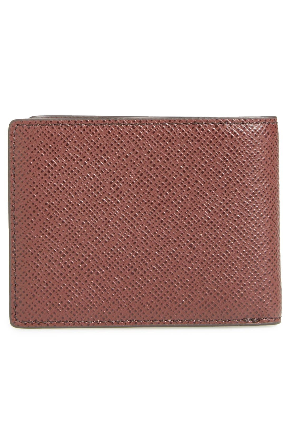 Alternate Image 3  - BOSS 'Signature' Bifold Calfskin Leather Wallet