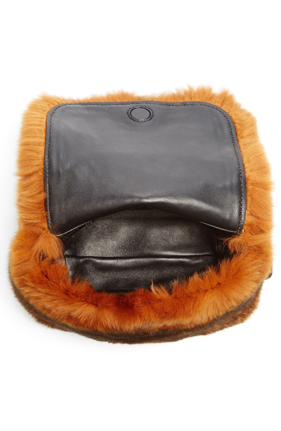 Alternate Image 3  - Alexander Wang Mini Genuine Rabbit Fur Handbag
