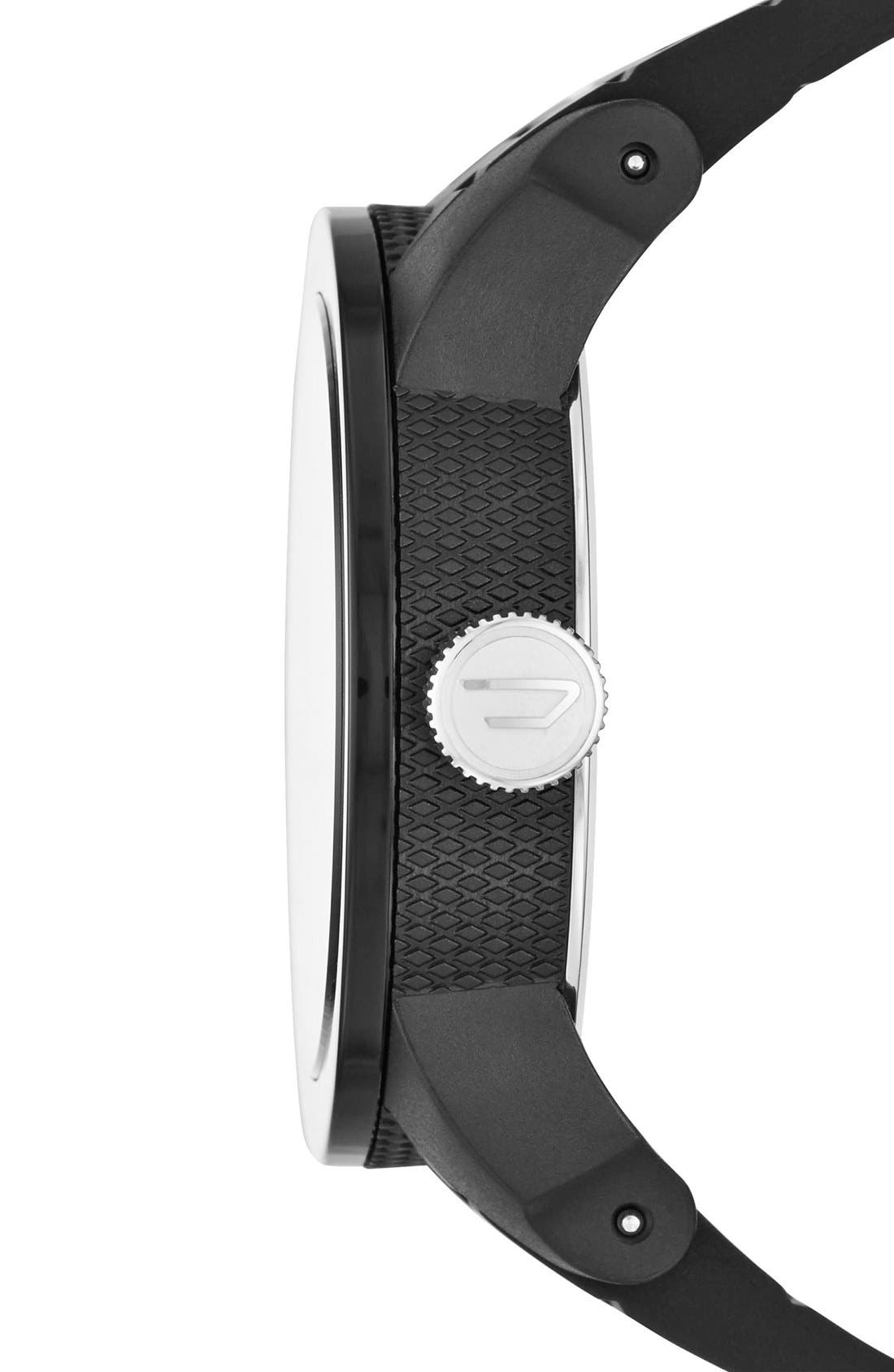 Alternate Image 2  - DIESEL® Double Down Silicone Strap Watch, 44mm