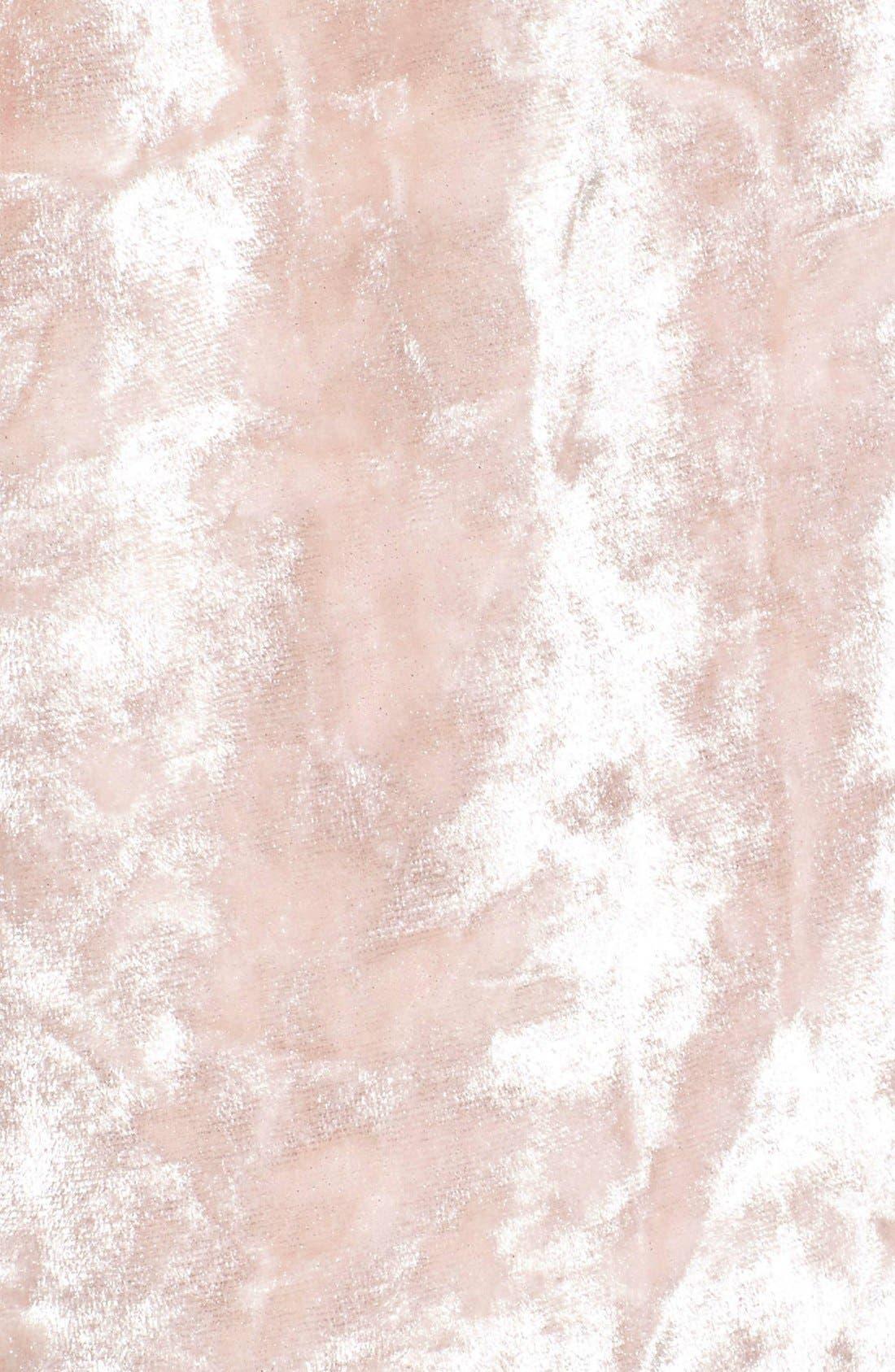 Crushed Velvet Shorts,                             Alternate thumbnail 5, color,                             Pink Wood