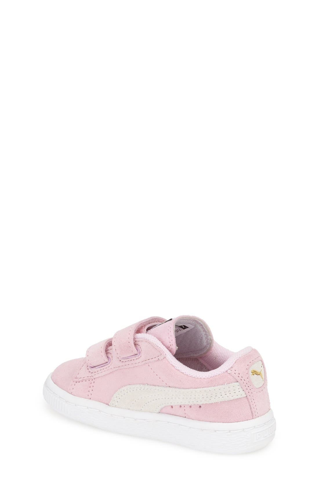 Suede Sneaker,                             Alternate thumbnail 2, color,                             Pink Lady/ Team Gold