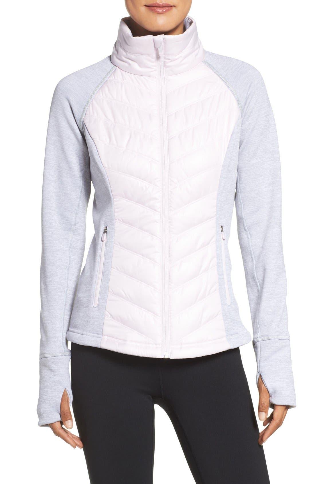 Main Image - Zella Zelfusion Reflective Quilted Jacket