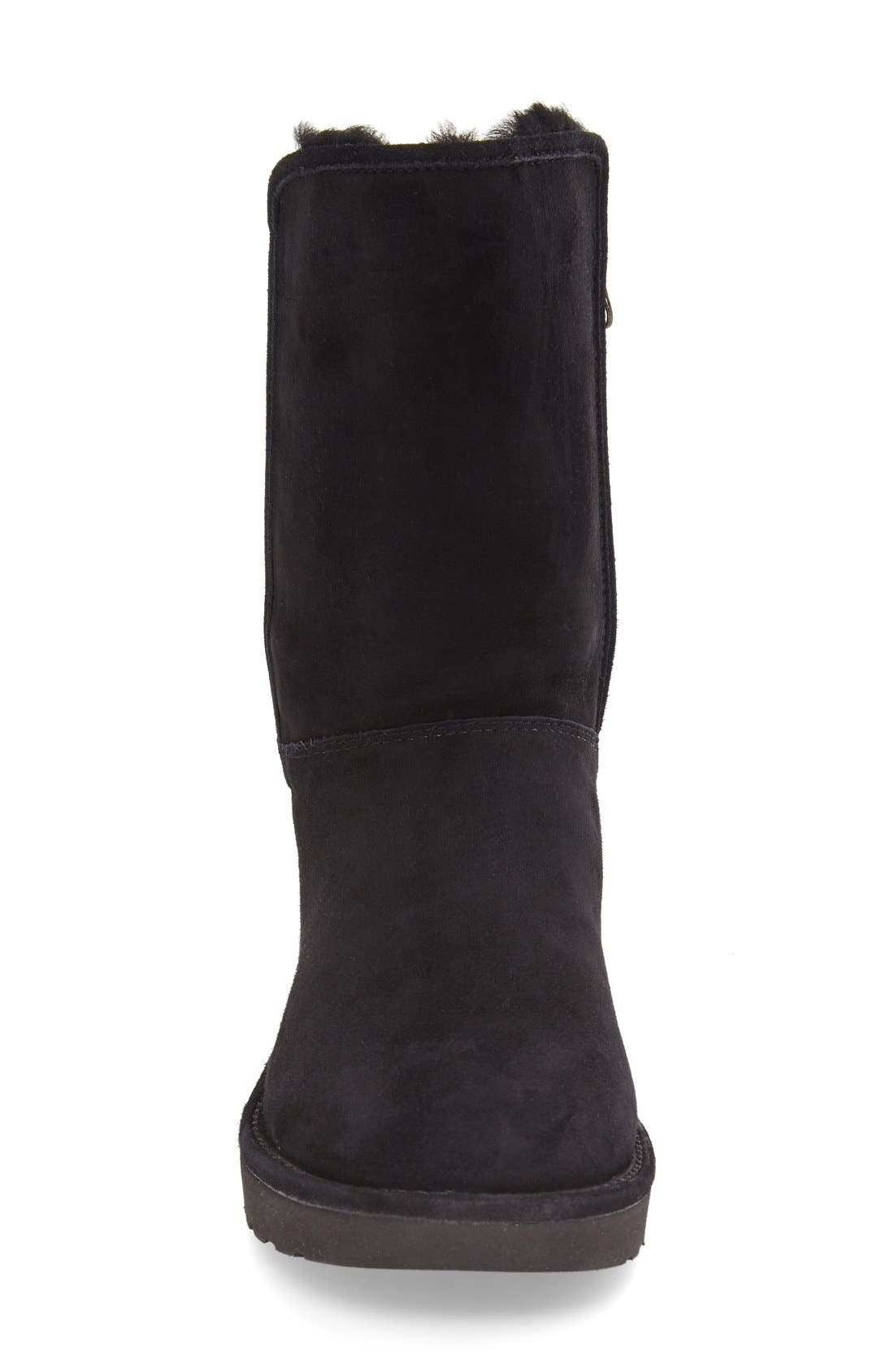 Abree II Short Boot,                             Alternate thumbnail 3, color,                             Nero Suede