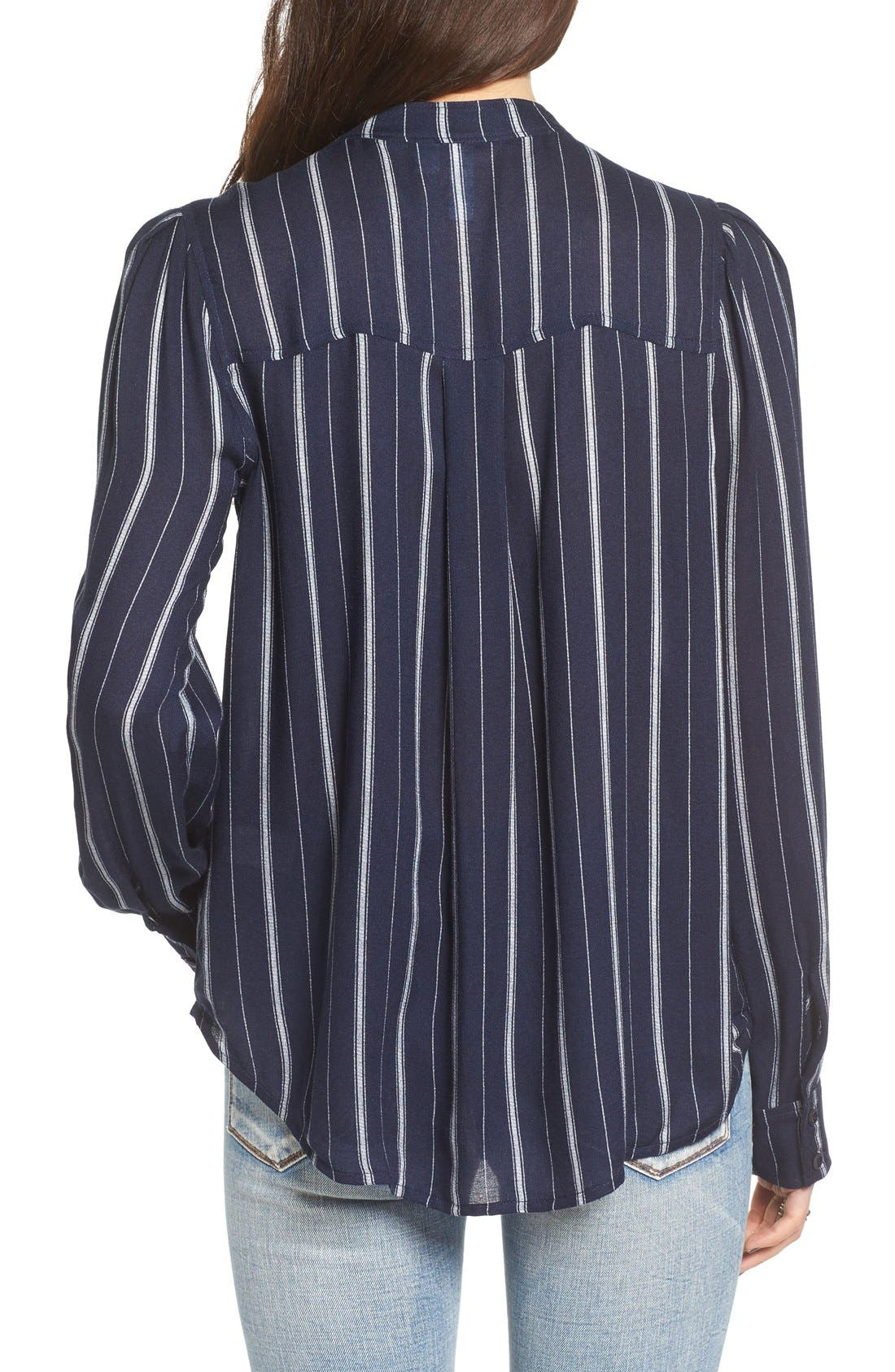 Alternate Image 2  - BP. Stripe Ruffle Popover Shirt