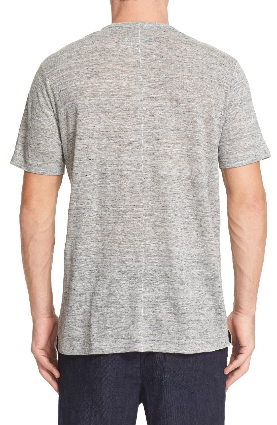 Alternate Image 2  - rag & bone Owen Slub Linen T-Shirt