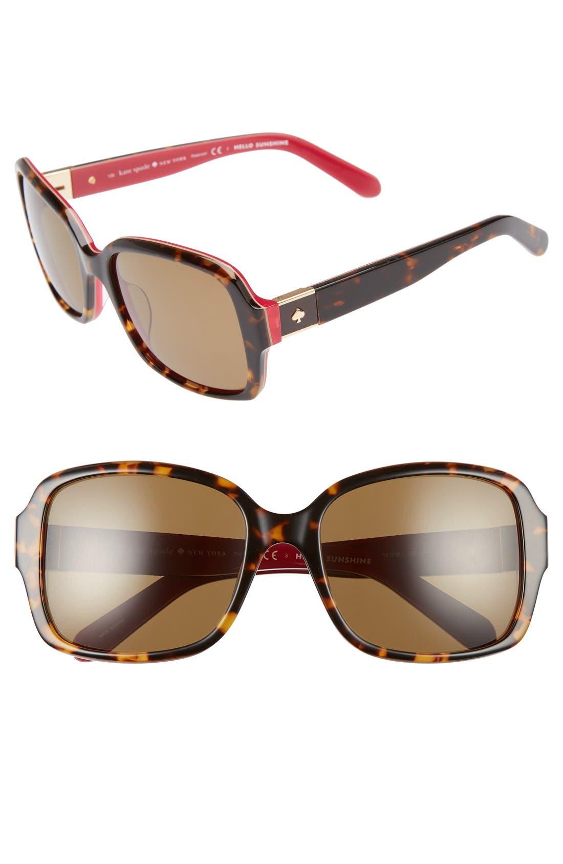 kate spade new york annor 54mm polarized sunglasses