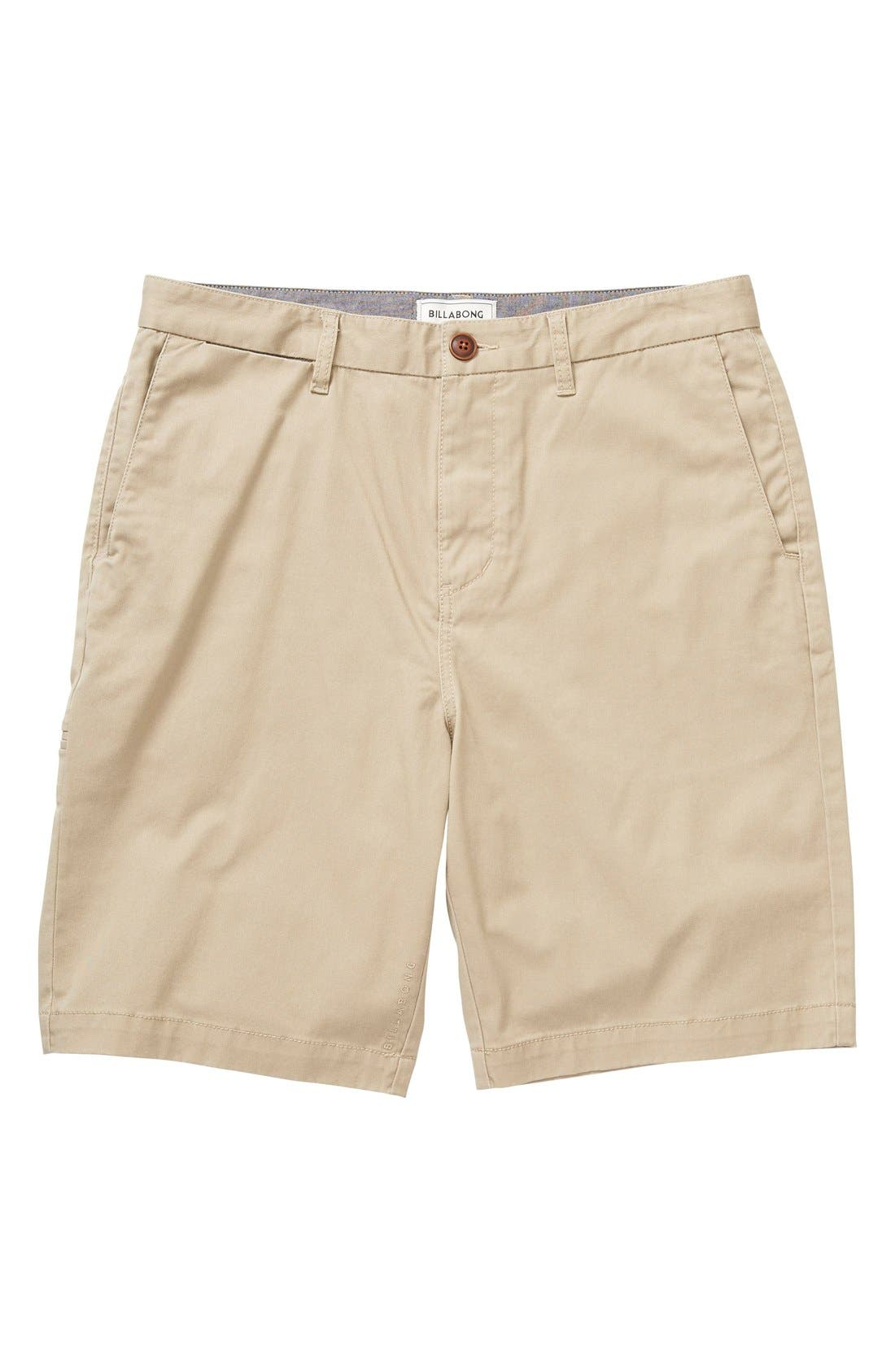 Main Image - Billabong 'Carter' Cotton Twill Shorts (Big Boys)