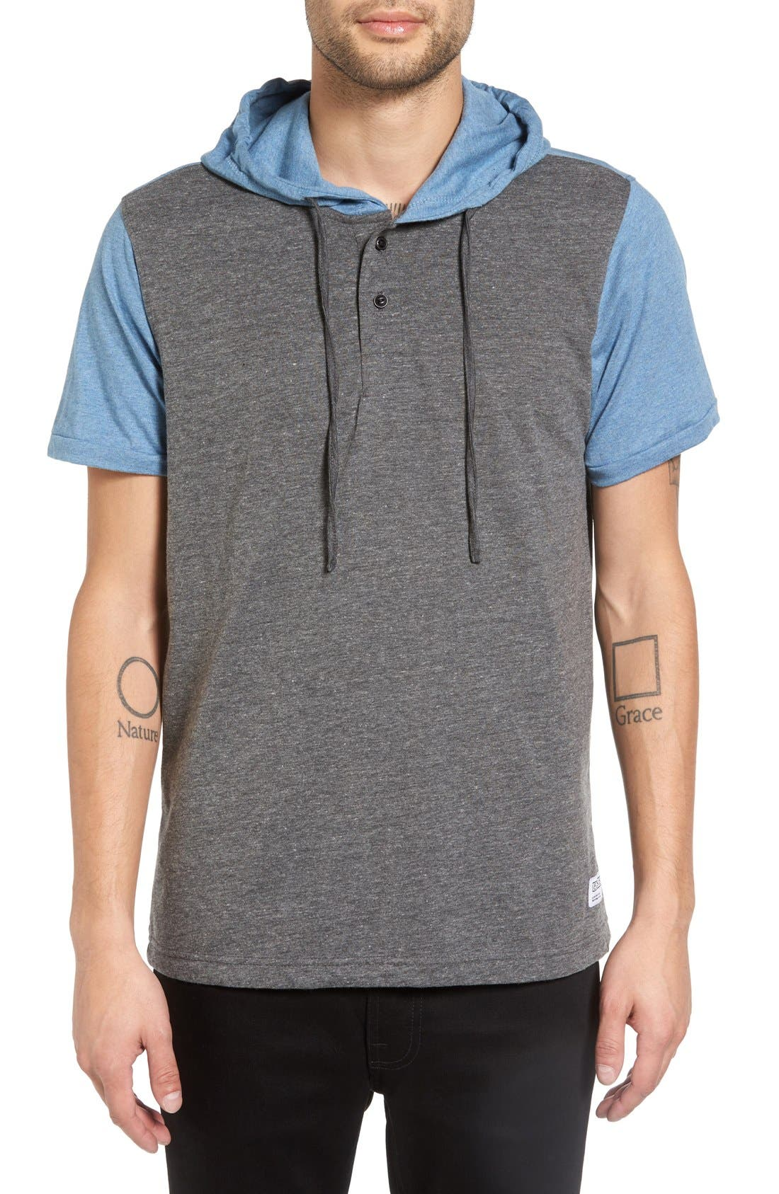 Ezekiel 'Hyland' Hooded Colorblock Henley