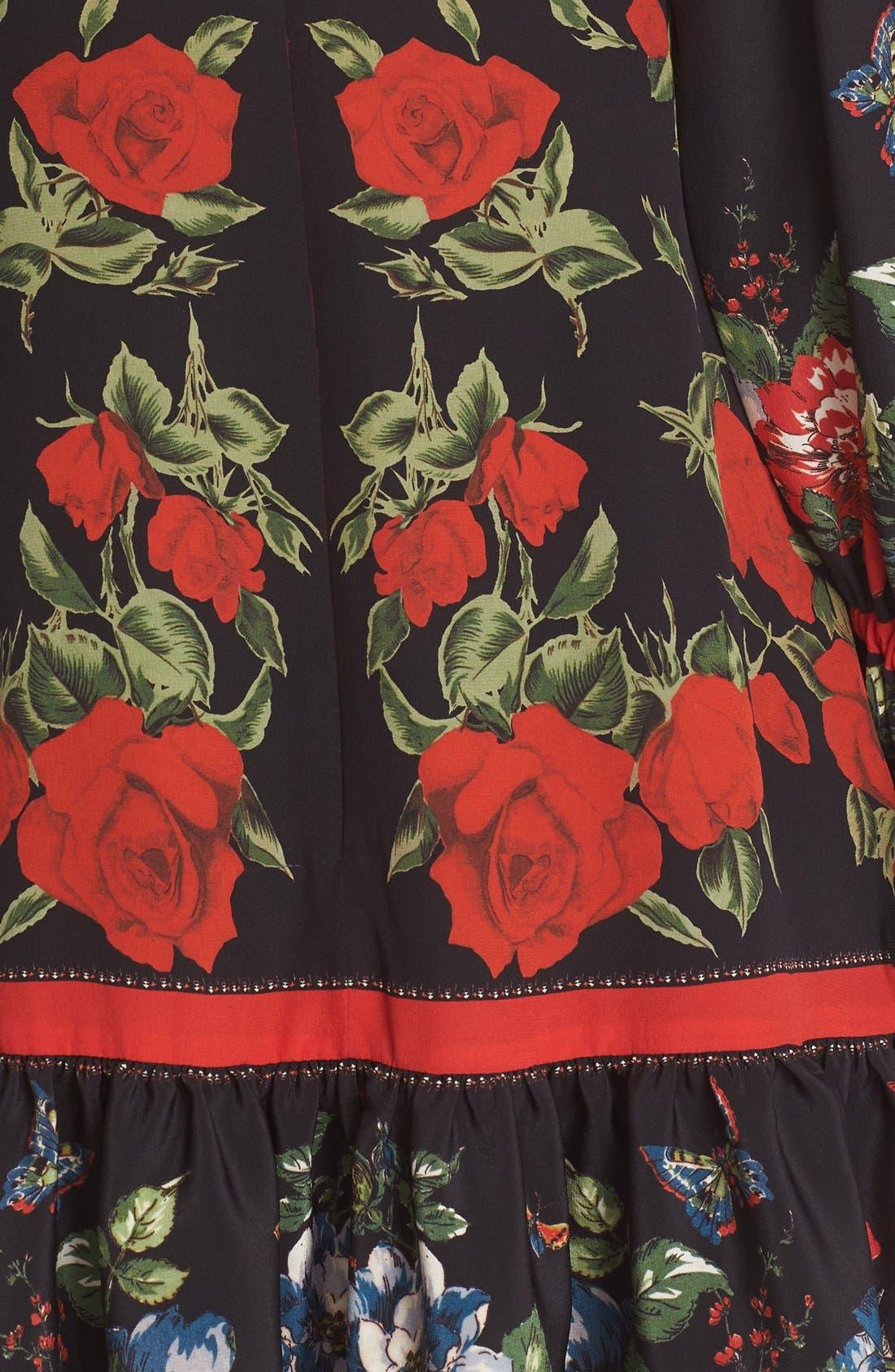 Alternate Image 3  - Alexander McQueen Floral Print Silk Dress