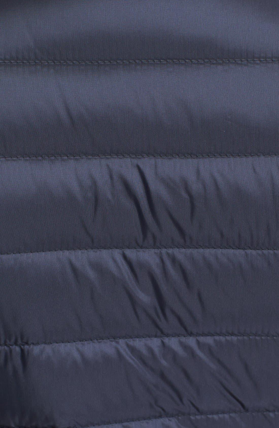 Bogue Water Resistant Long Down Jacket,                             Alternate thumbnail 3, color,                             Navy