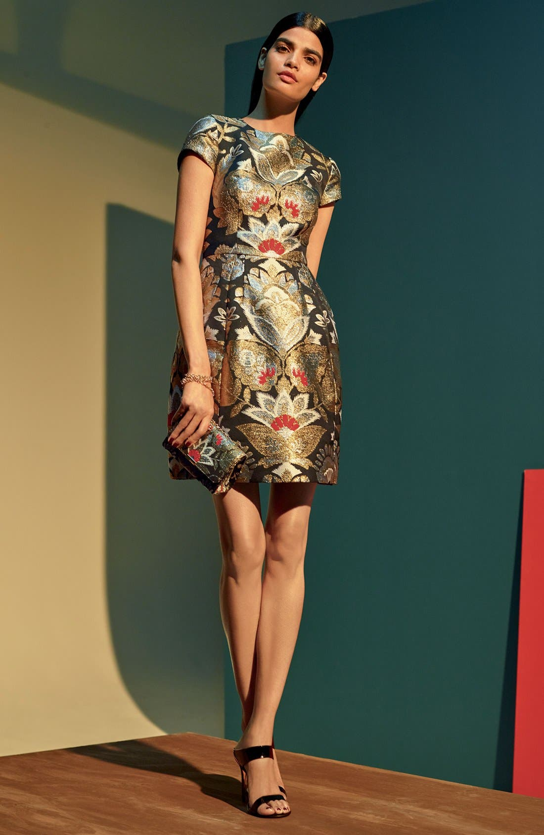 Alternate Image 6  - Ted Baker London Imoen Opulent Orient Jacquard Fit & Flare Dress