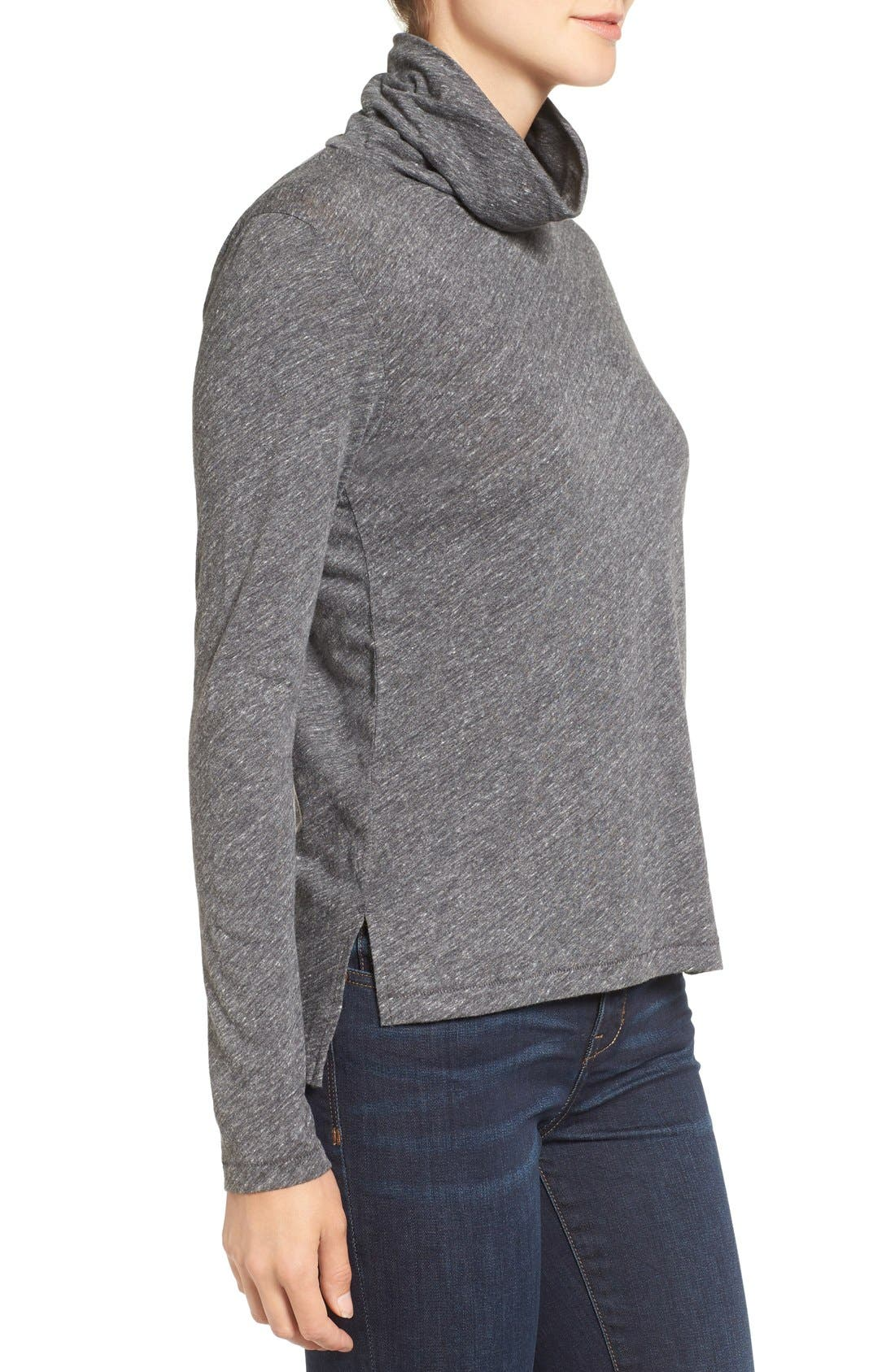Alternate Image 3  - Madewell Whisper Cotton Turtleneck Top