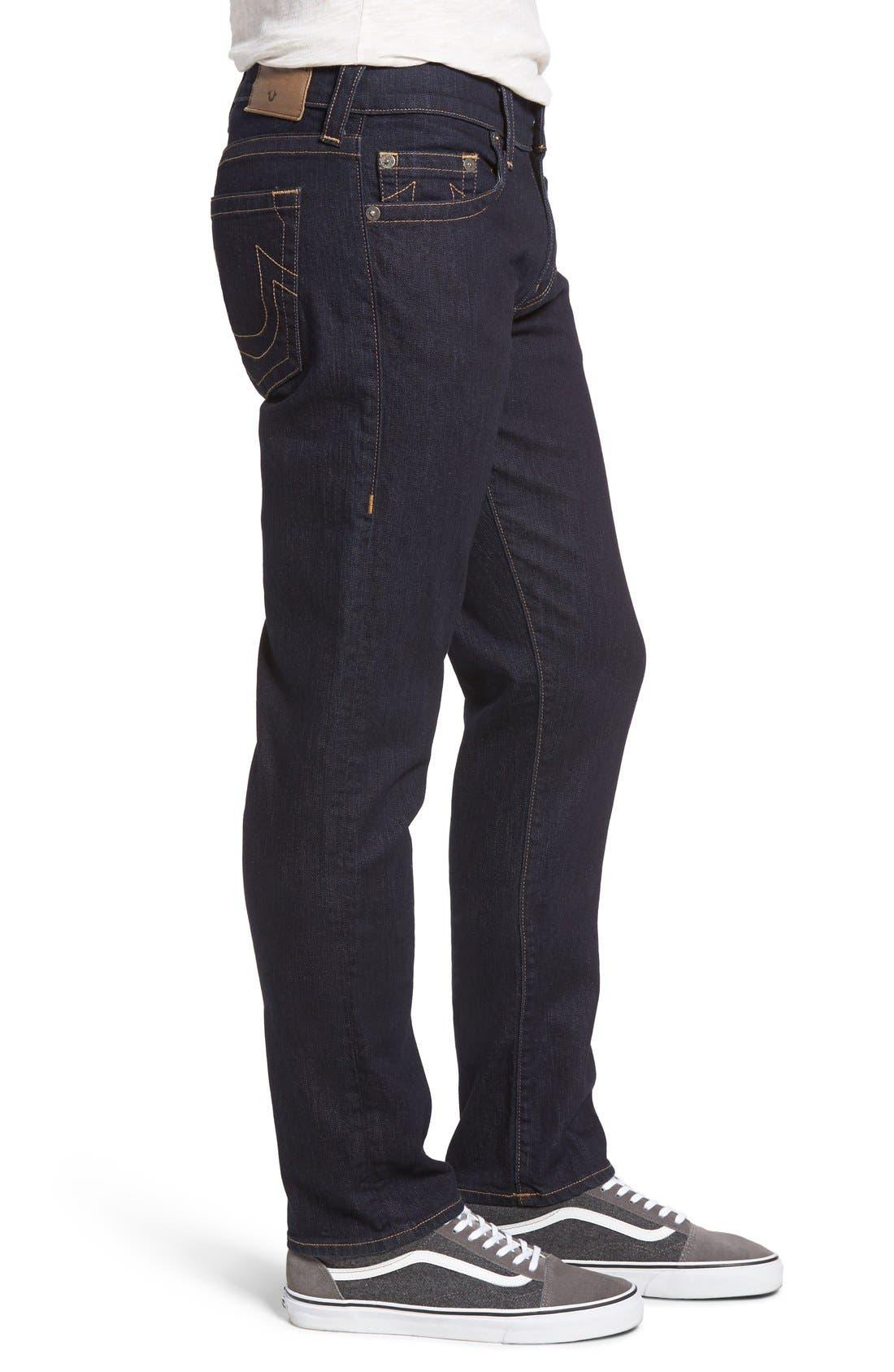 Geno Straight Leg Jeans,                             Alternate thumbnail 3, color,                             2S Body Rinse