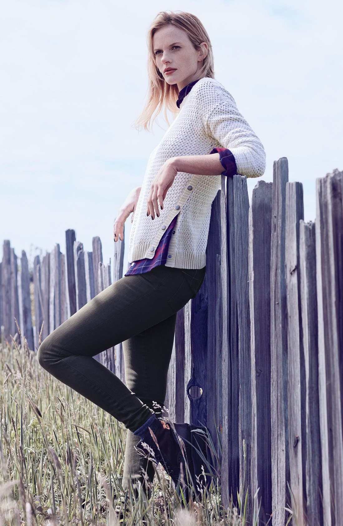 Alternate Image 6  - Caslon® Colored Skinny Jeans