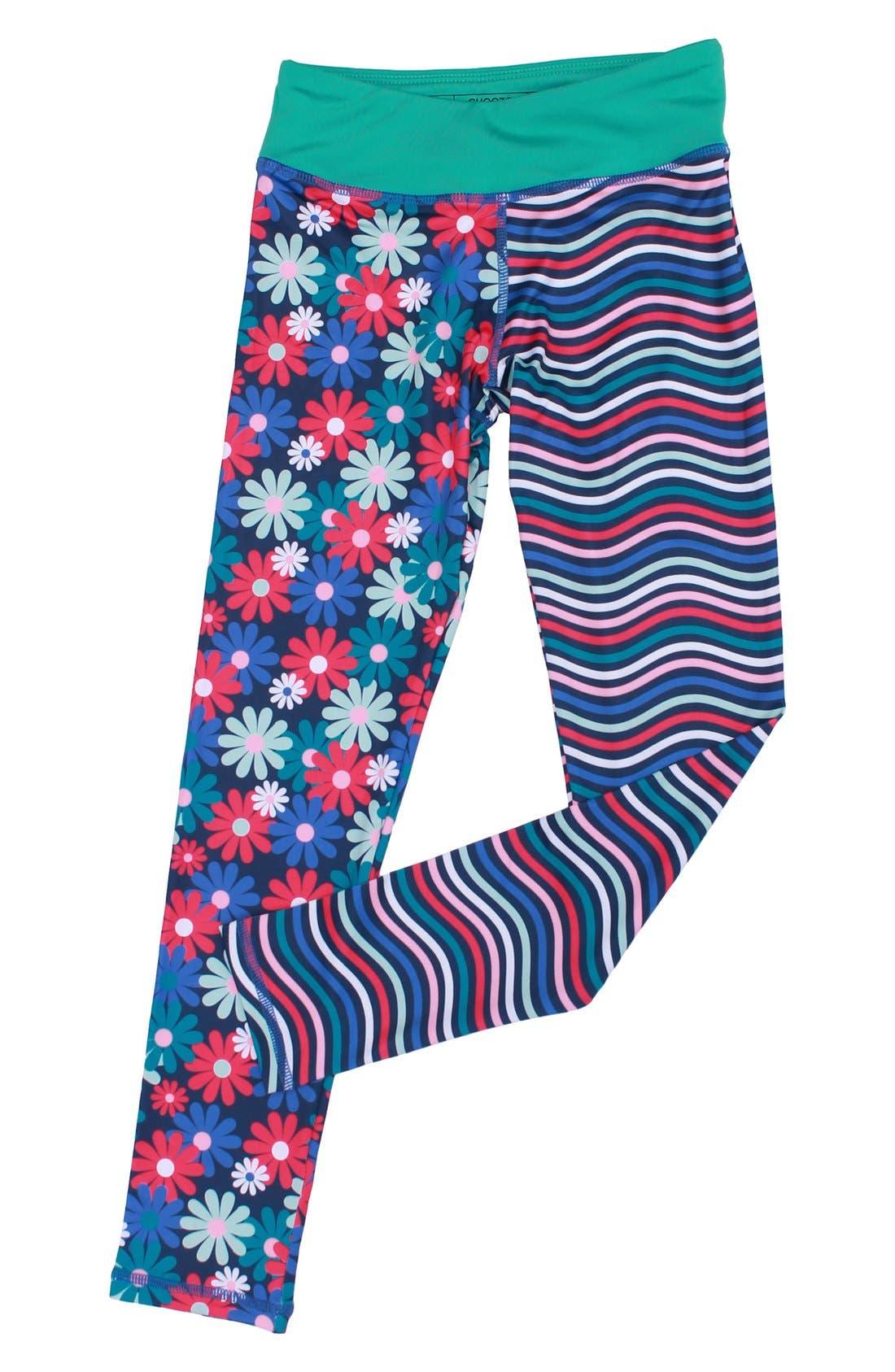 'Splits' Mixed Print Leggings,                         Main,                         color, Admire