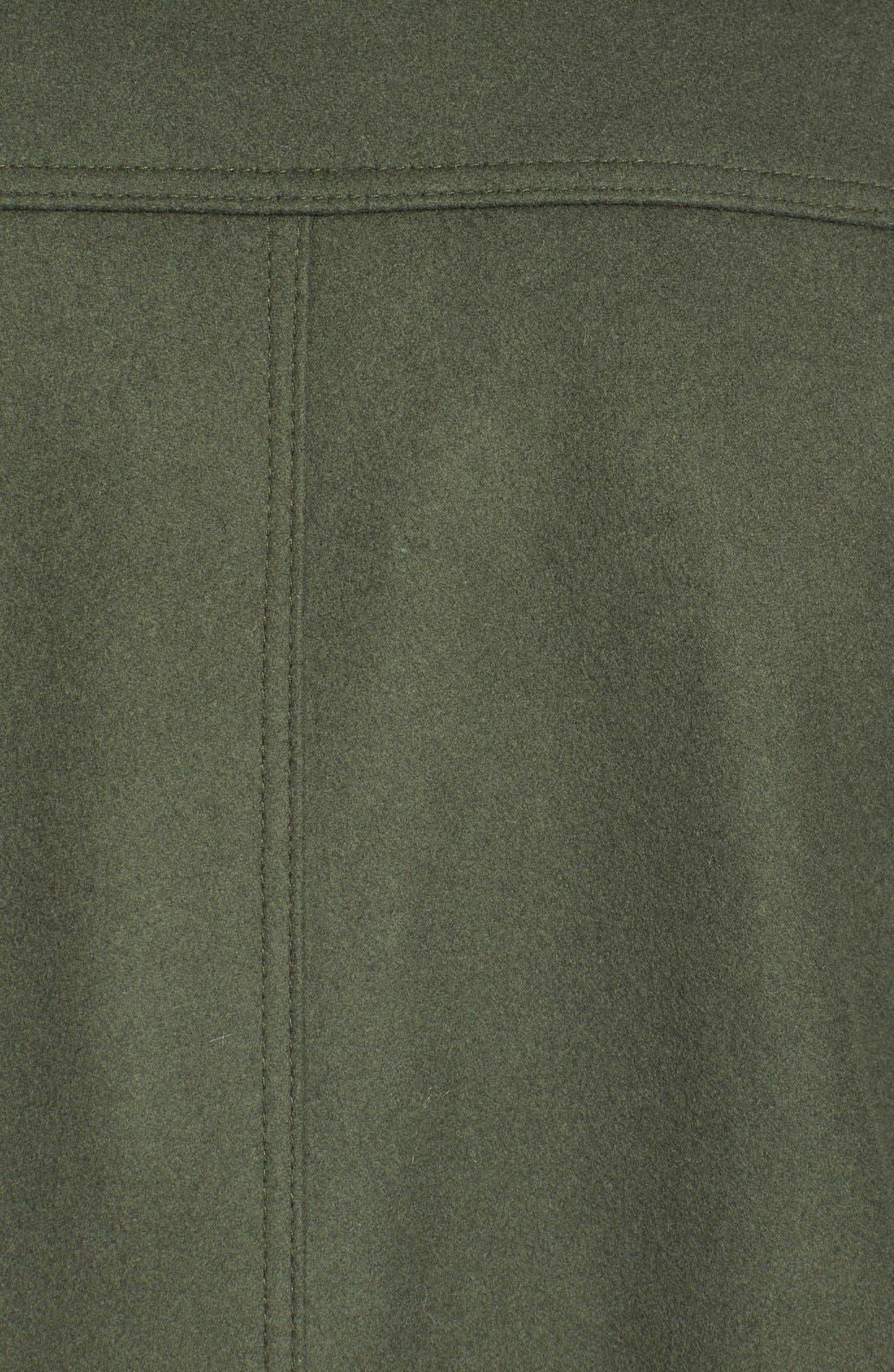 Alternate Image 6  - Kristen Blake Funnel Neck Wool Blend Coat  (Regular & Petite)