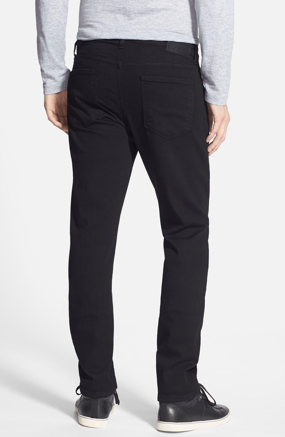 Alternate Image 2  - PAIGE Transcend - Lennox XL Slim Fit Jeans (Black Shadow) (Tall)