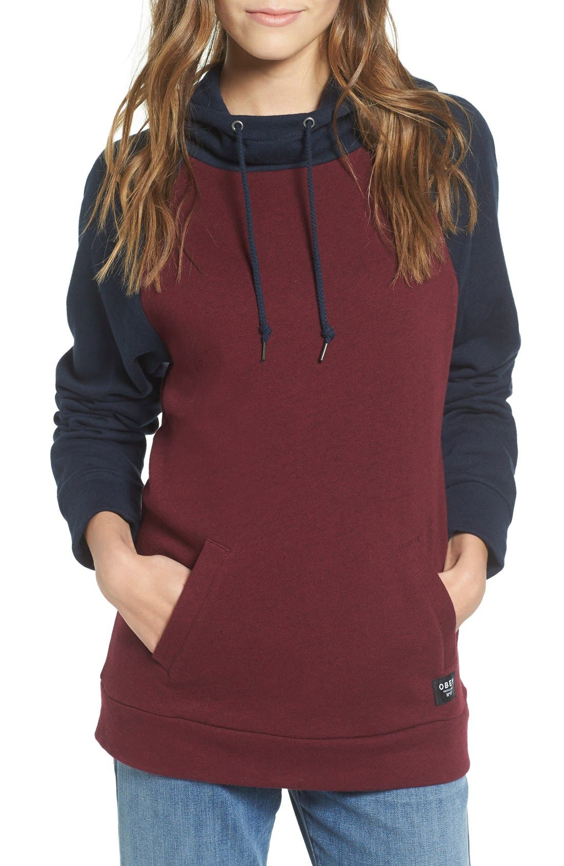 Alternate Image 1 Selected - Obey 'Jackson' Colorblock Hooded Sweatshirt