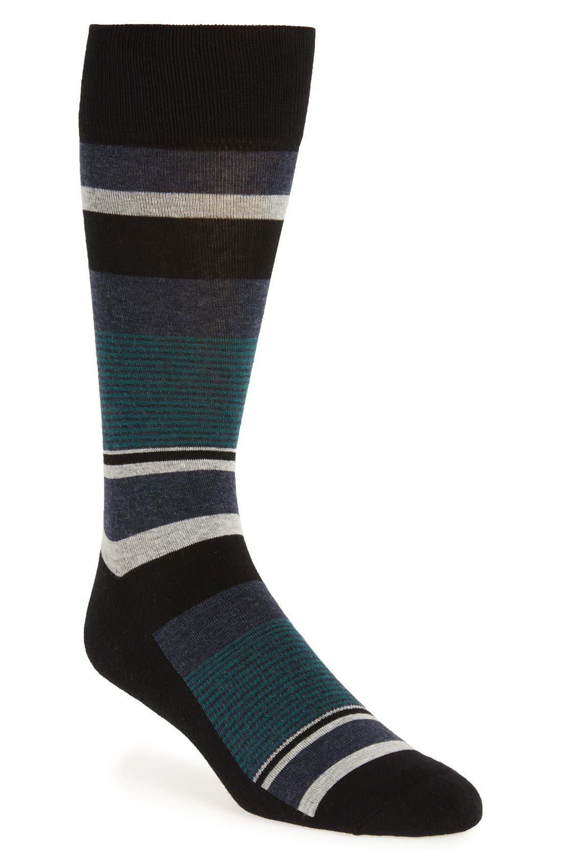 Nordstrom Block Stripe Multi Socks
