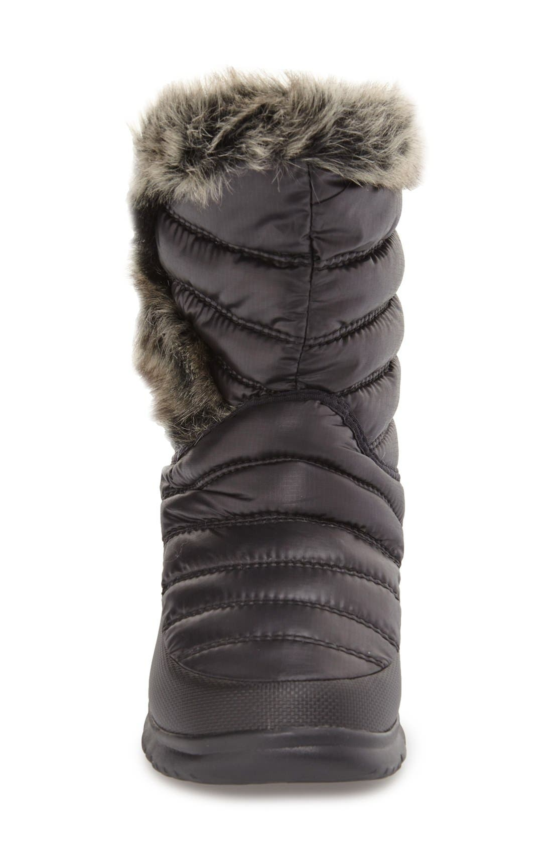 Microbaffle Waterproof ThermoBall<sup>®</sup> Insulated Winter Boot,                             Alternate thumbnail 3, color,                             Black/ Smoked Pearl Grey