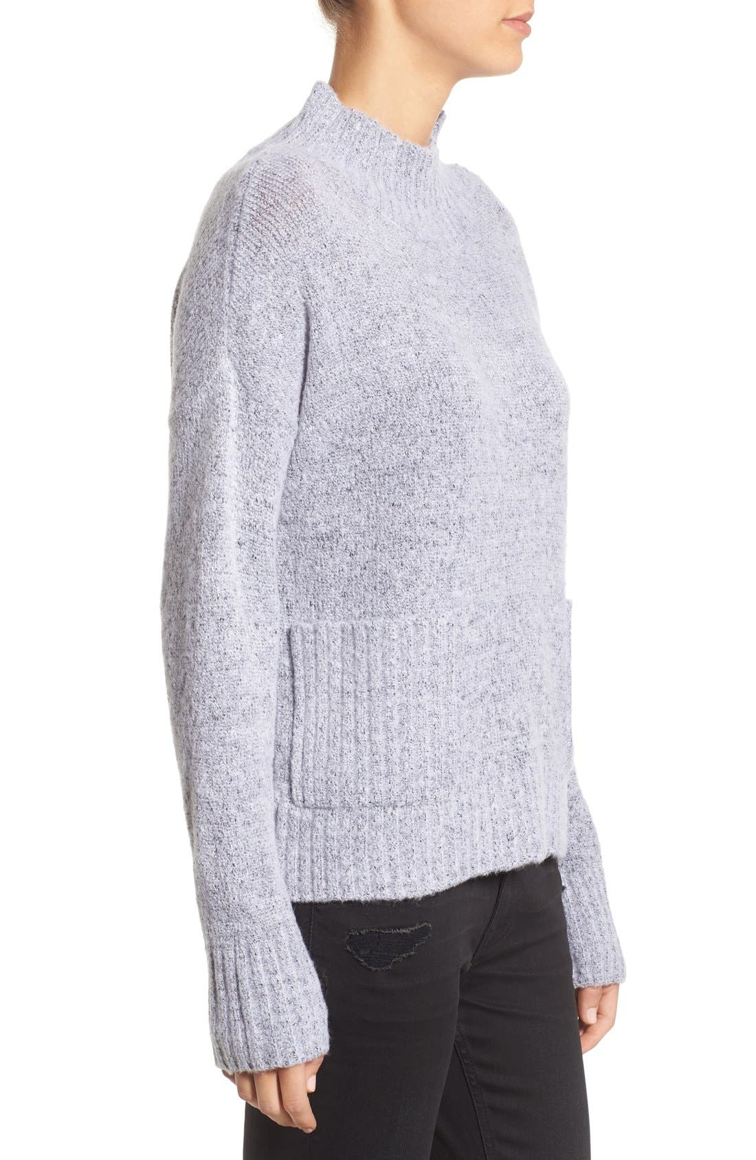 Alternate Image 3  - Love by Design Mock Neck Patch Pocket Pullover