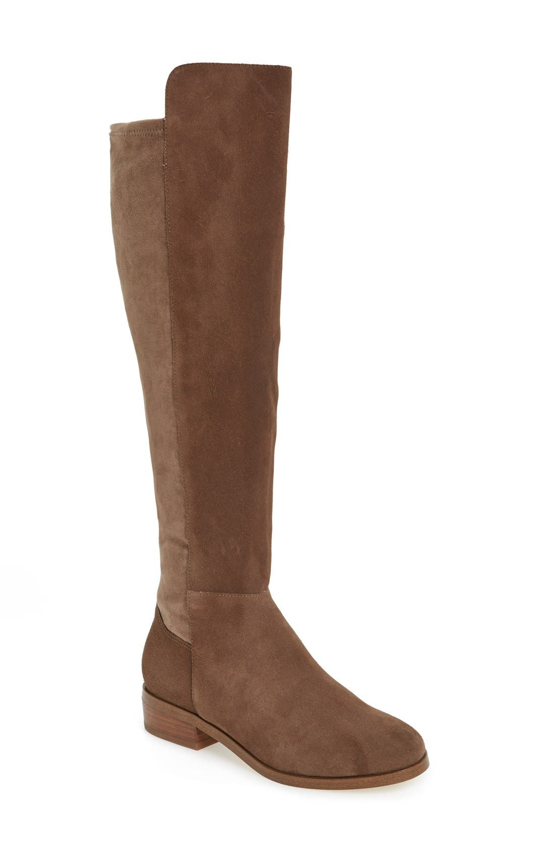 Calypso Over the Knee Boot,                             Main thumbnail 1, color,                             Taupe Suede