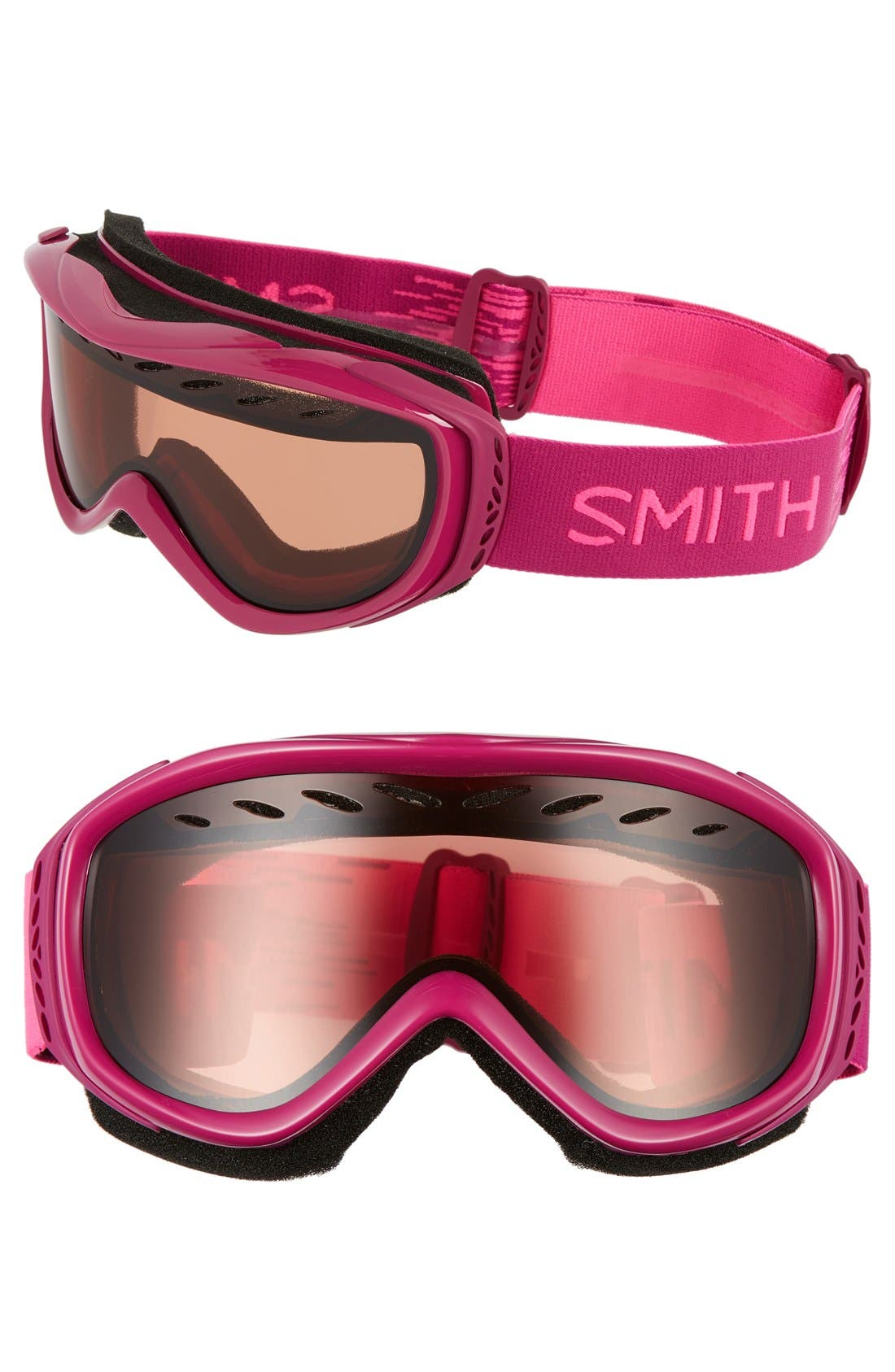 'Transit' Snow Goggles,                         Main,                         color, Fuchsia Static/ Rc36