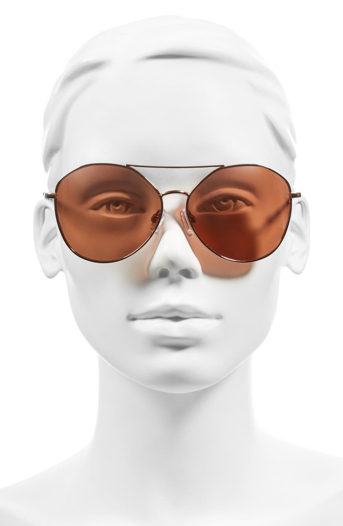 Alternate Image 2  - BP. Slingshot 58mm Aviator Sunglasses