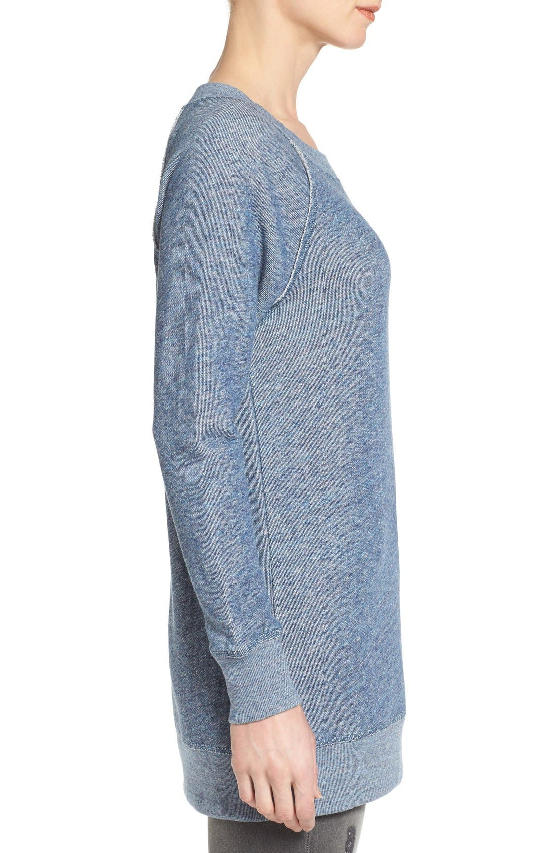 Alternate Image 3  - Caslon® Space Dye Tunic Sweatshirt (Regular & Petite)
