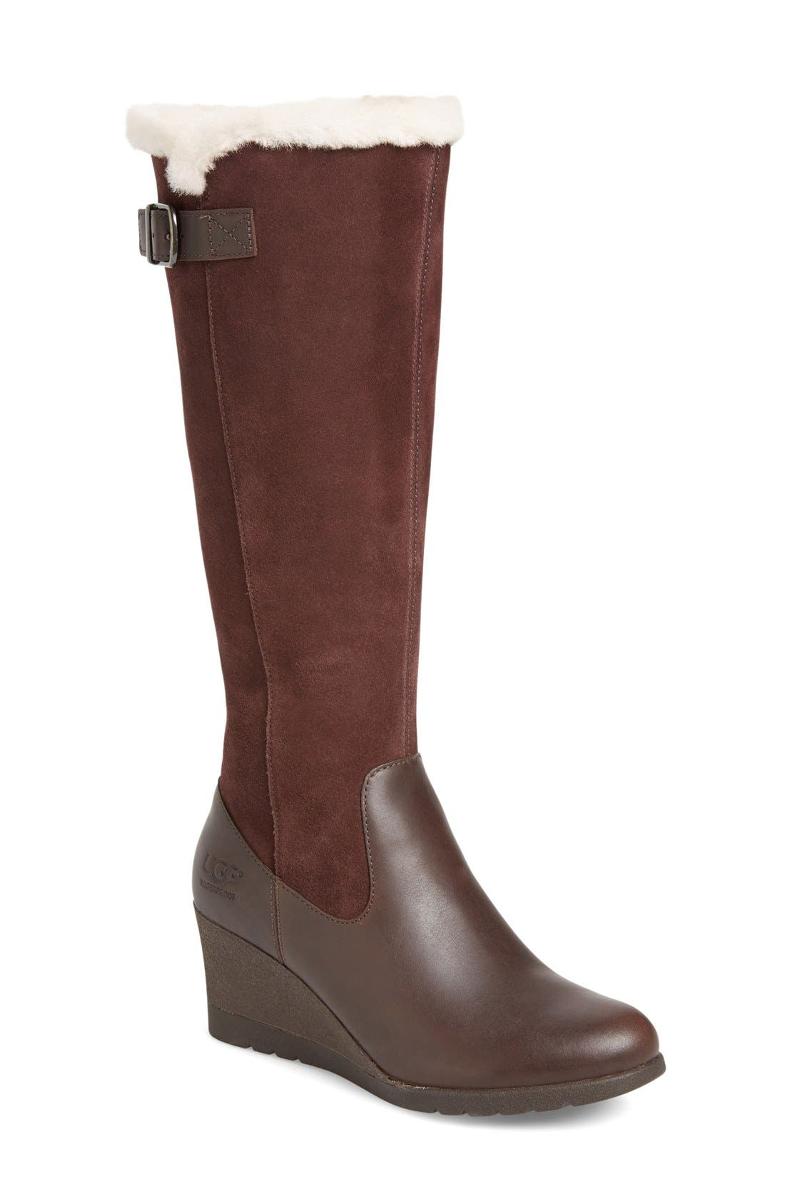 Alternate Image 1 Selected - UGG® Mischa Waterproof Wedge Boot (Women)