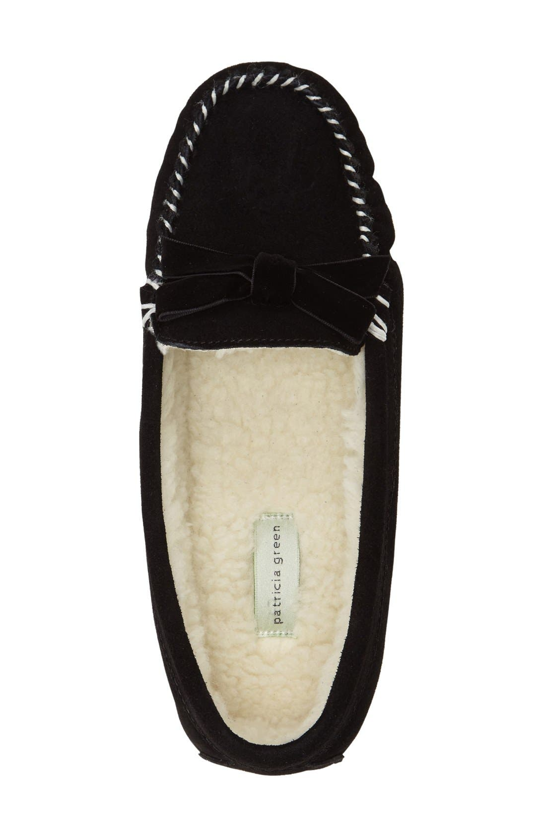 'Haley' Slipper,                             Alternate thumbnail 3, color,                             Black Suede