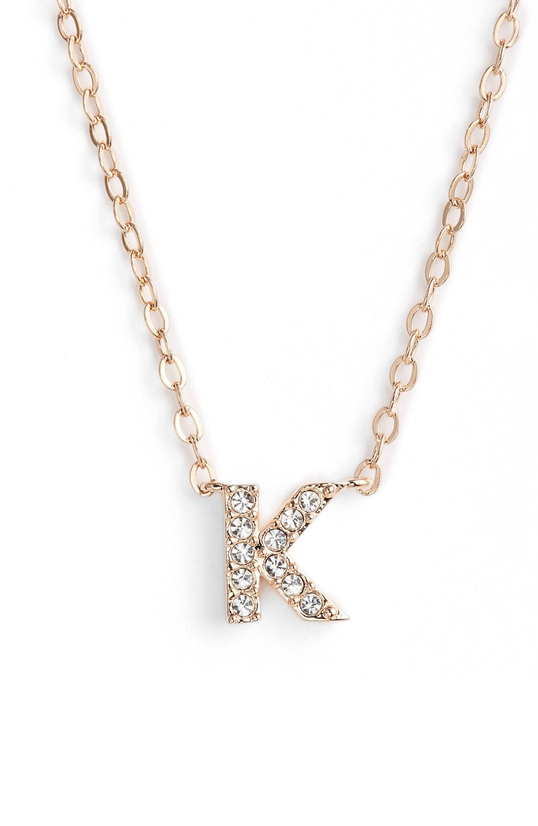 Nadri initial pendant necklace k rose gold modesens nadri initial pendant necklace k rose gold aloadofball Choice Image