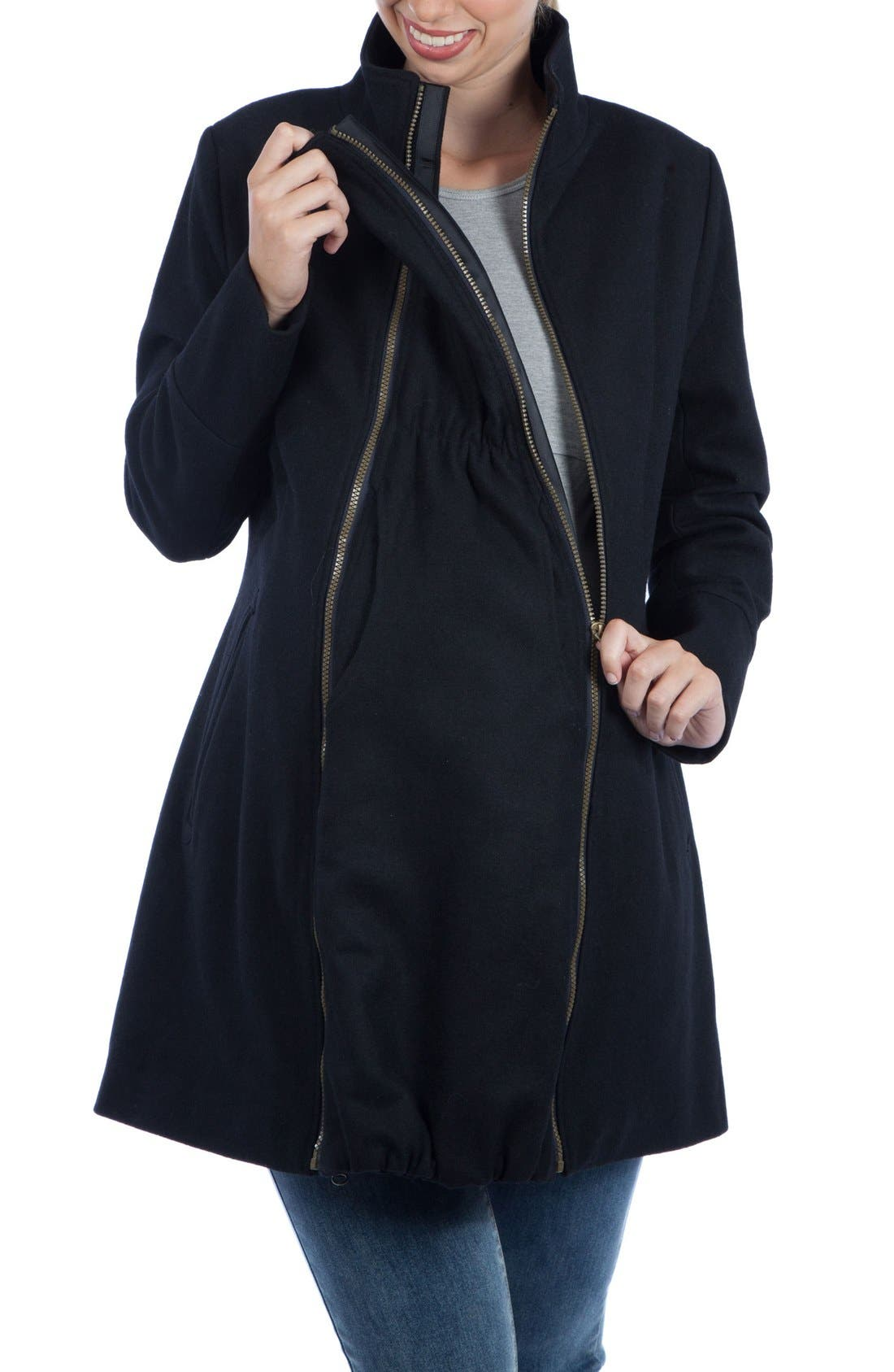 Alternate Image 3  - Modern Eternity Convertible Maternity Coat