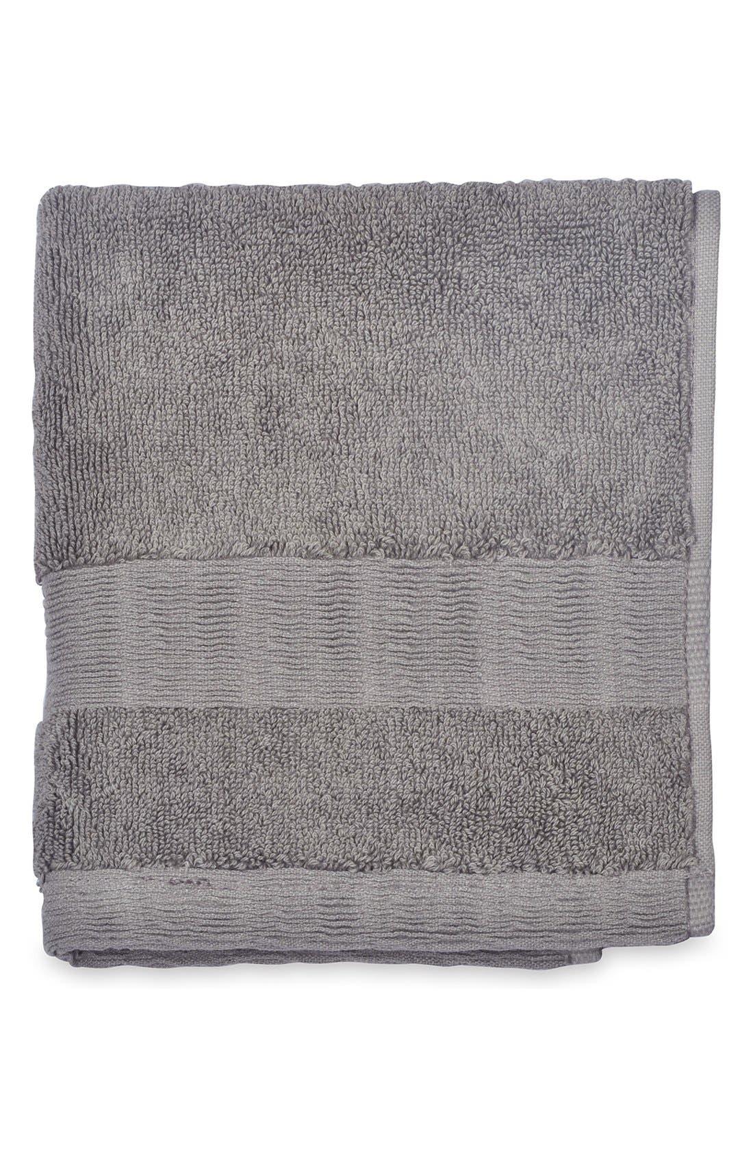 Mercer Wash Towel,                             Main thumbnail 1, color,                             Grey