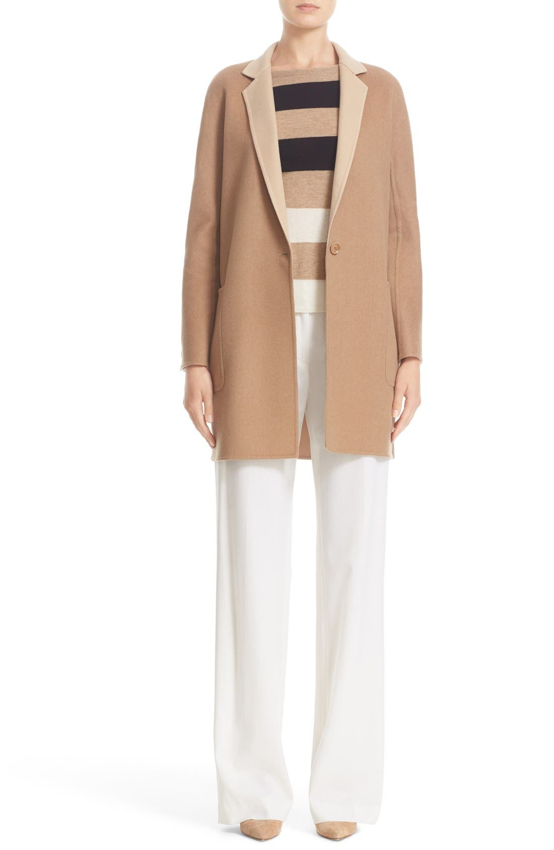Alternate Image 7  - Max Mara Lillo Wool & Cashmere Bicolor Coat