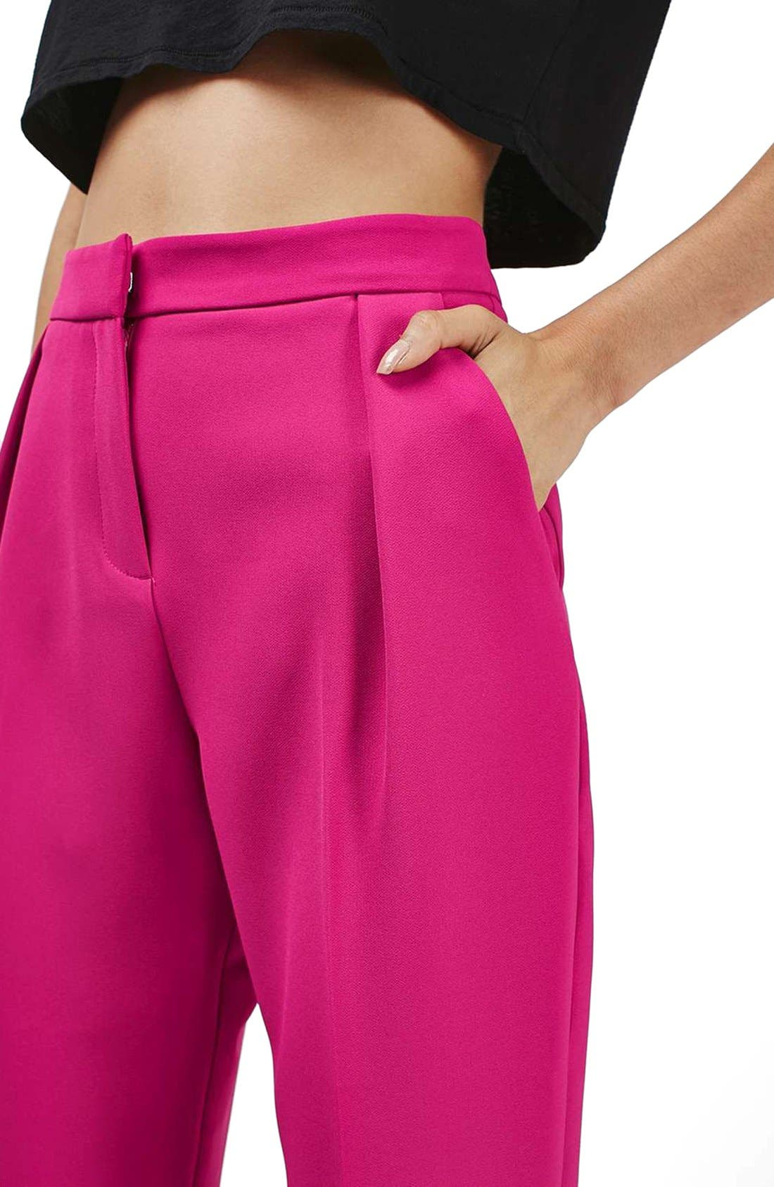 Alternate Image 5  - Topshop Structured Peg Trousers