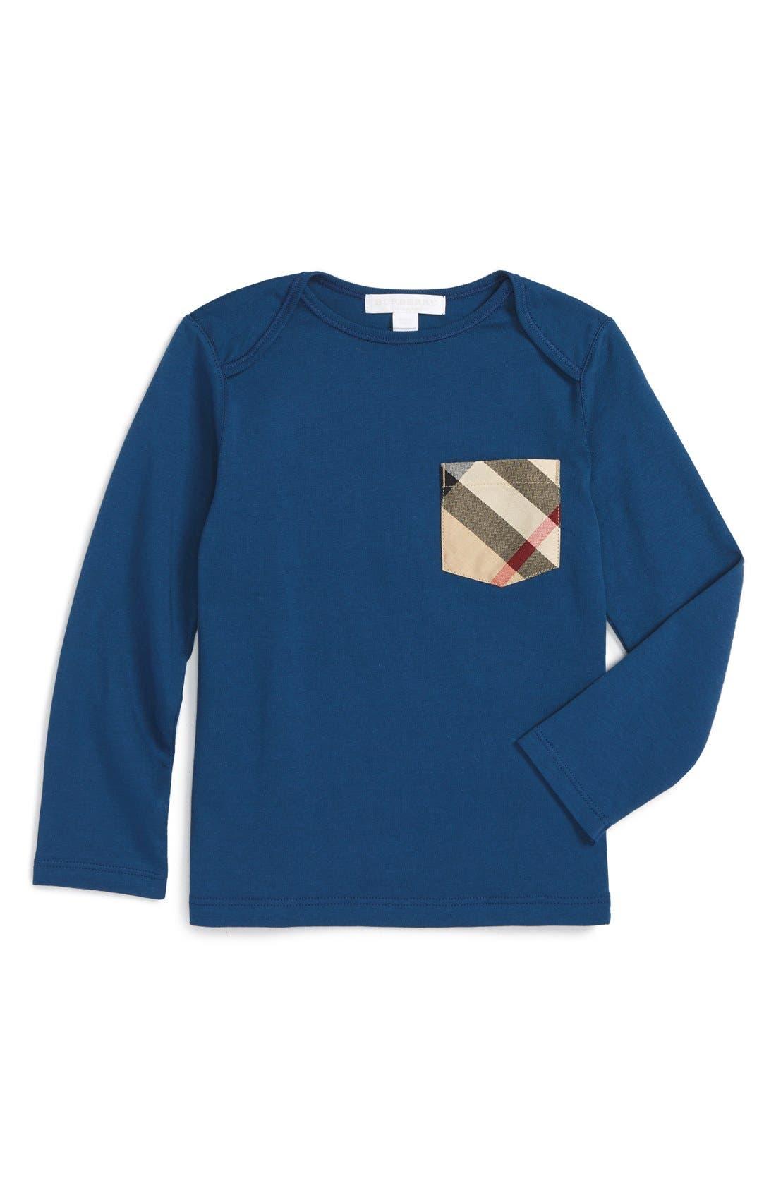 Burberry 'Callum' Long Sleeve Check Print Pocket T-Shirt (Toddler Boys)