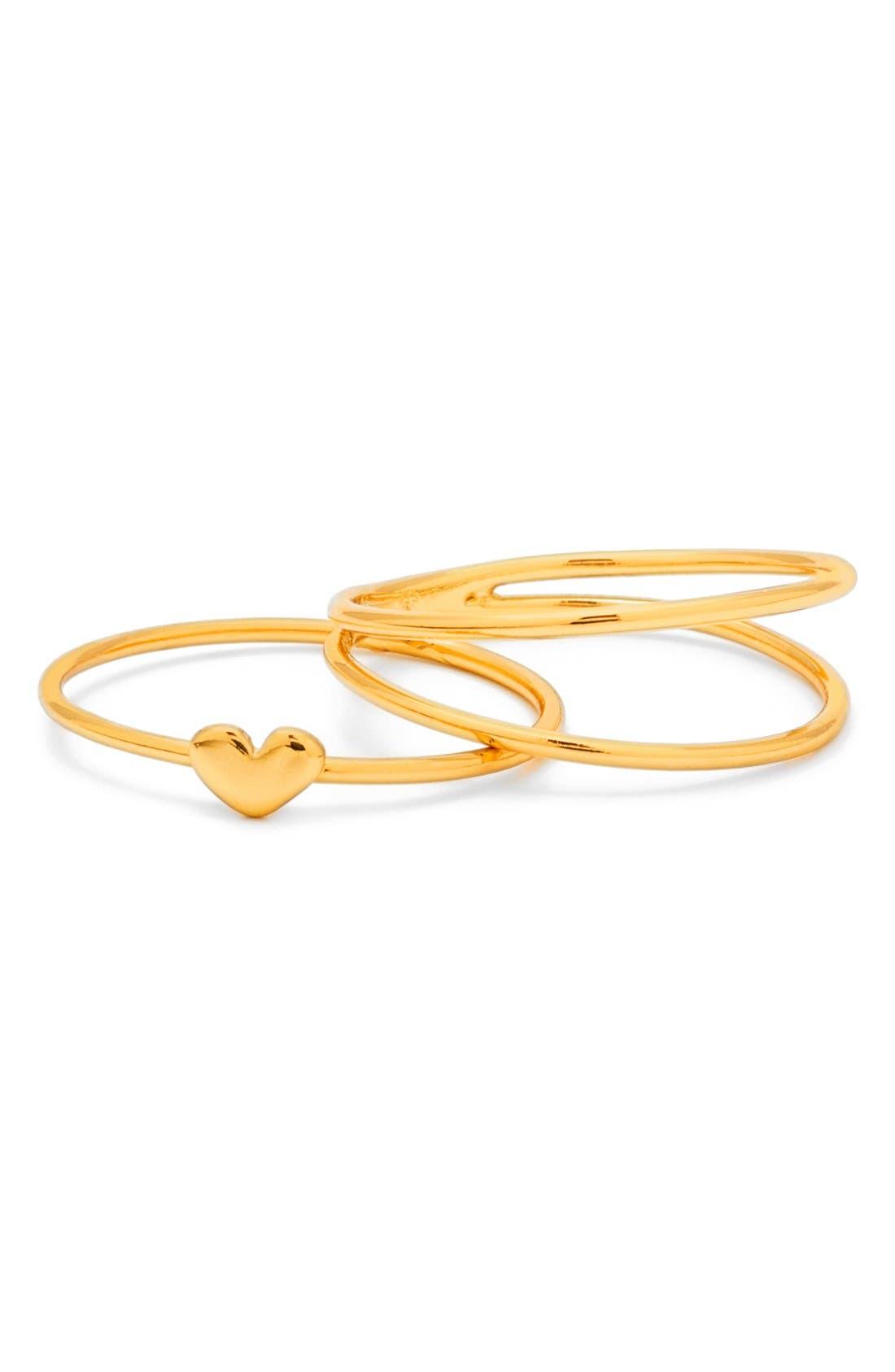 Main Image - gorjana Carina Set of Three Midi Rings