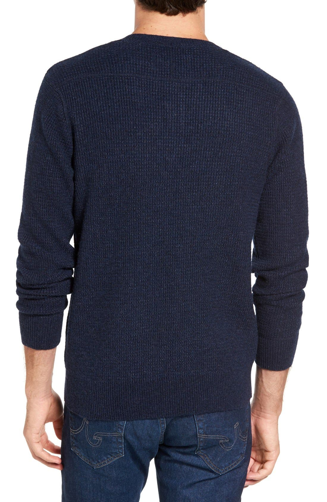 Thermal Henley,                             Alternate thumbnail 2, color,                             Navy