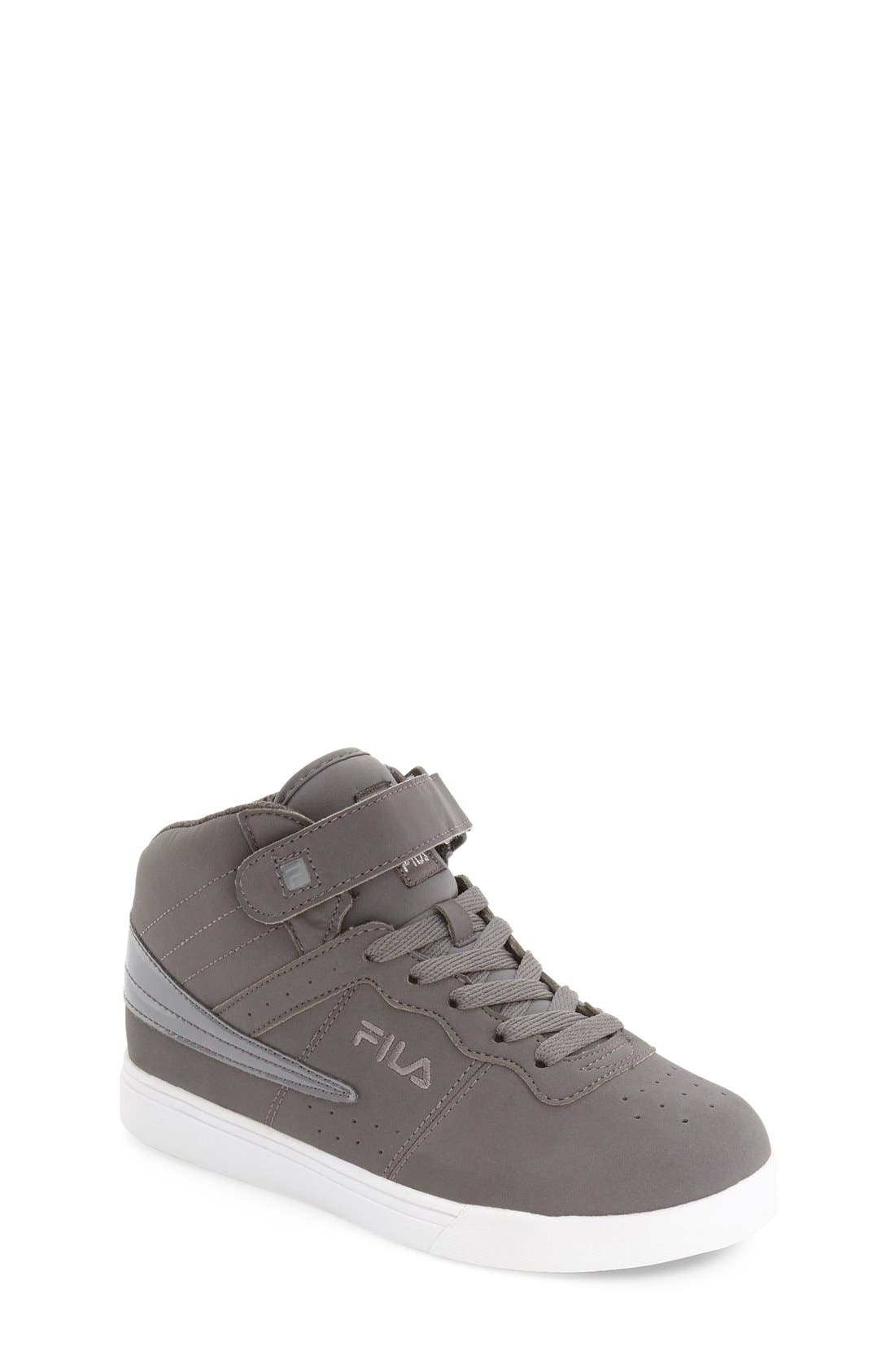 Vulc 13 High Top Sneaker,                             Main thumbnail 1, color,                             Pewter/ White