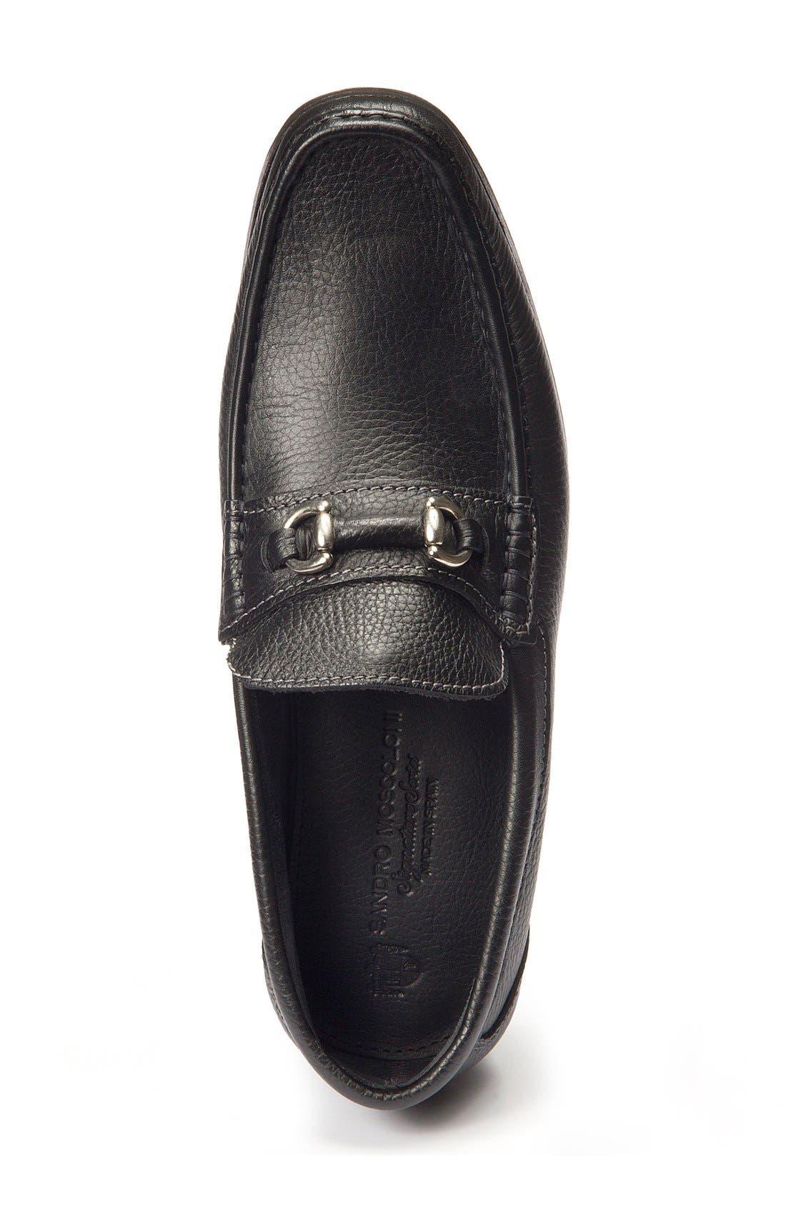 Garda Bit Loafer,                             Alternate thumbnail 3, color,                             Black Leather